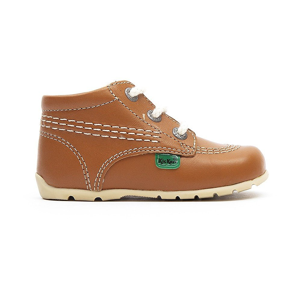 Kickers Kick Hi Kids Tan /