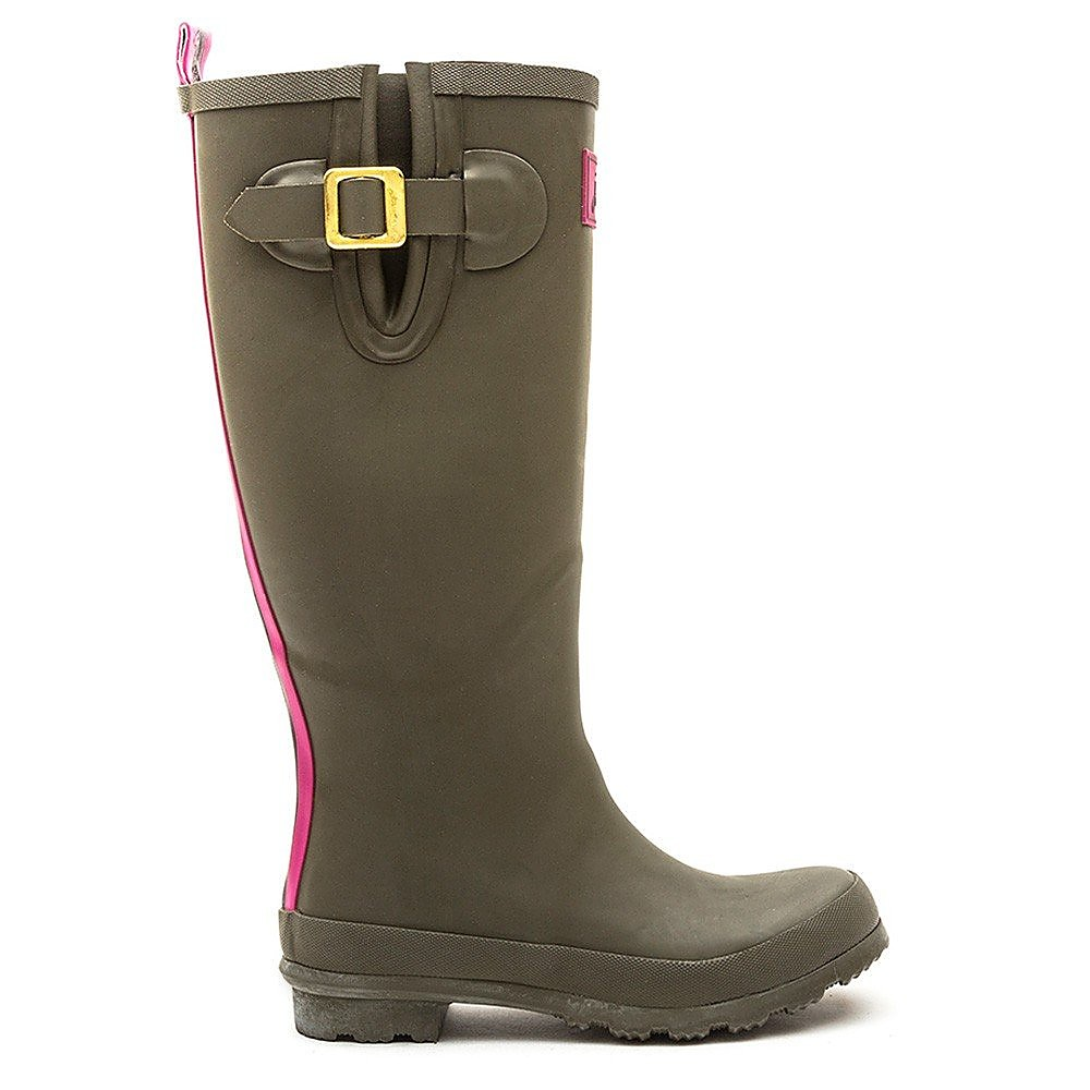 Joules Women's Field Rubber Wellington Boots - Olive Green