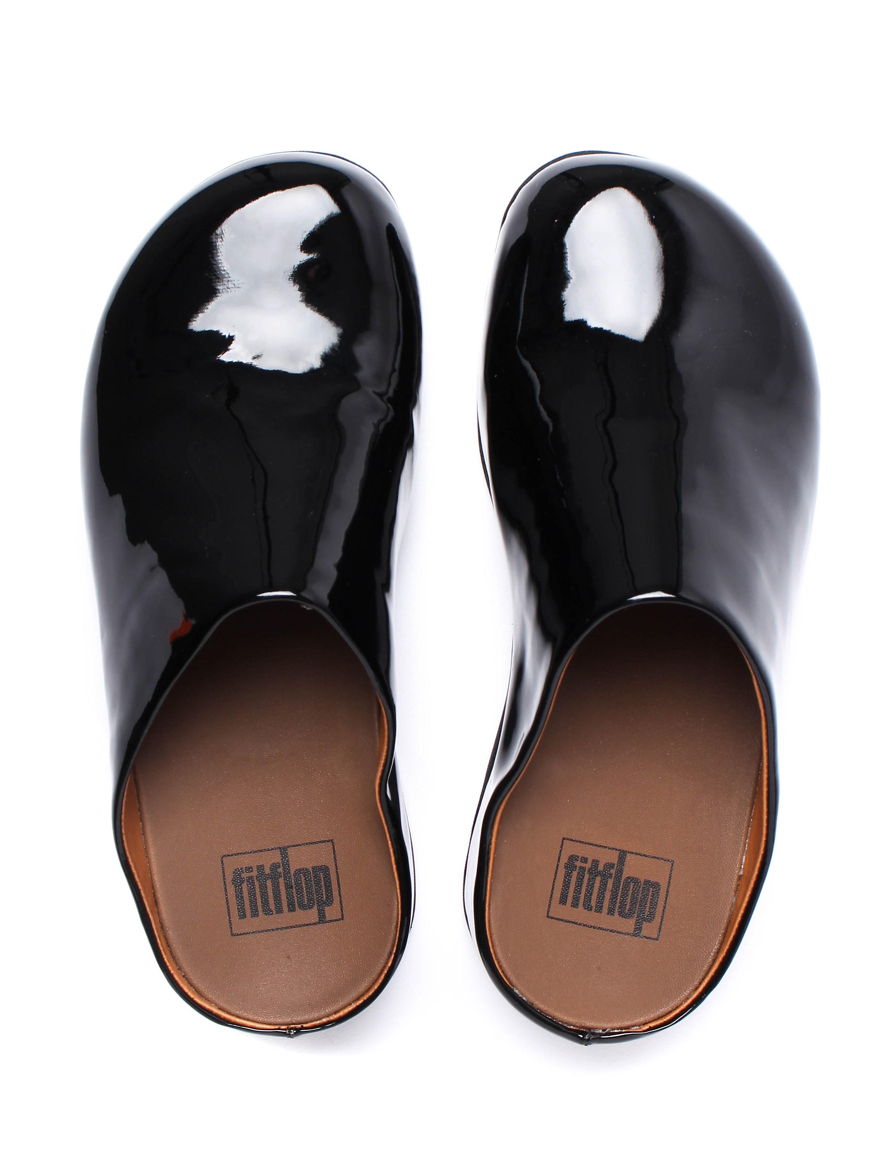 FitFlop Women's Shuv Patent Slip-On Shoe - Black