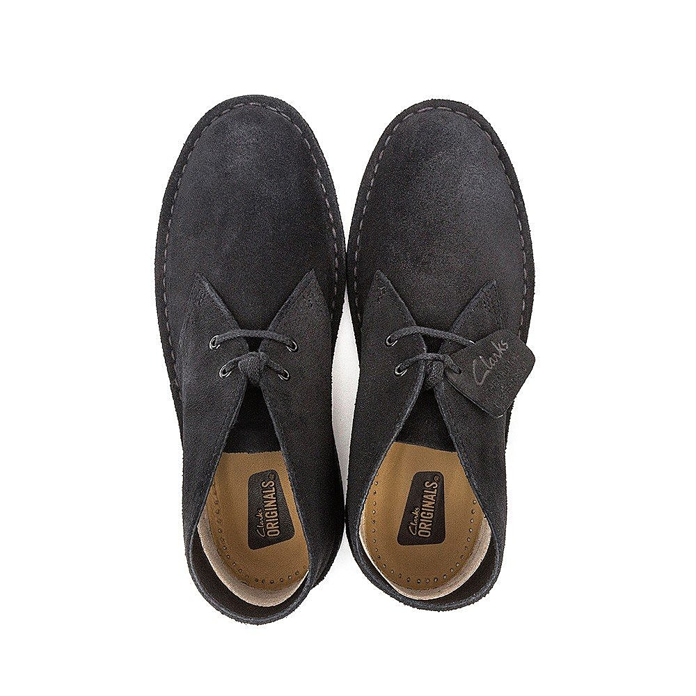 Clarks Men's Suede Desert Boot - Black