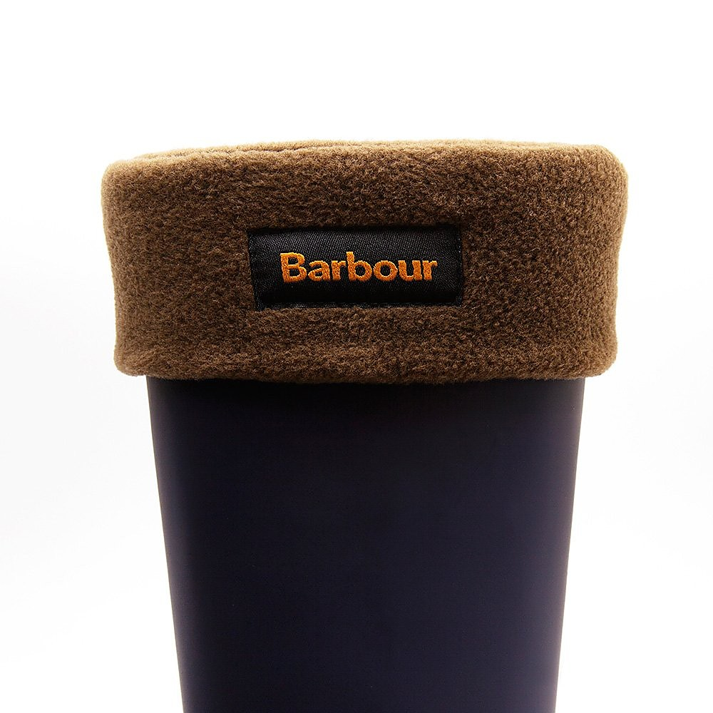 Barbour Unisex Polyester Fleece Removable Welly Socks - Olive