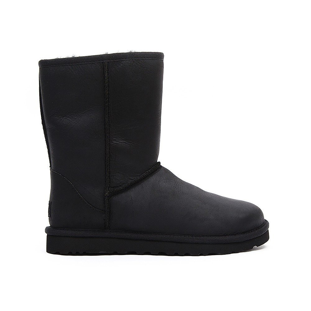 Ugg Women's Classic Leather Short Boots - Black