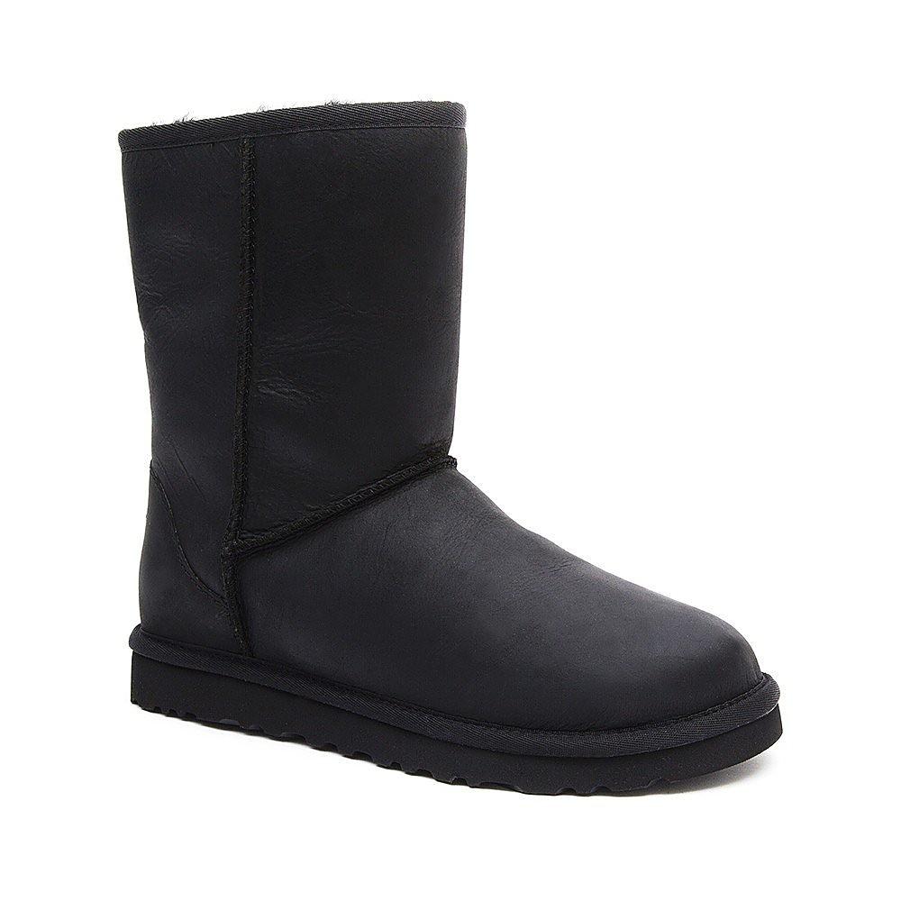 UGG Australia Womens Classic Short - Black Leather