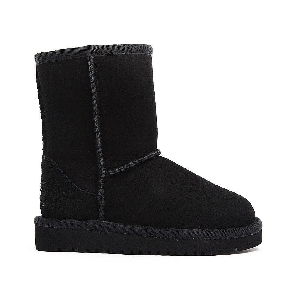Ugg Infant Classic Short Sheepskin Boots - Black
