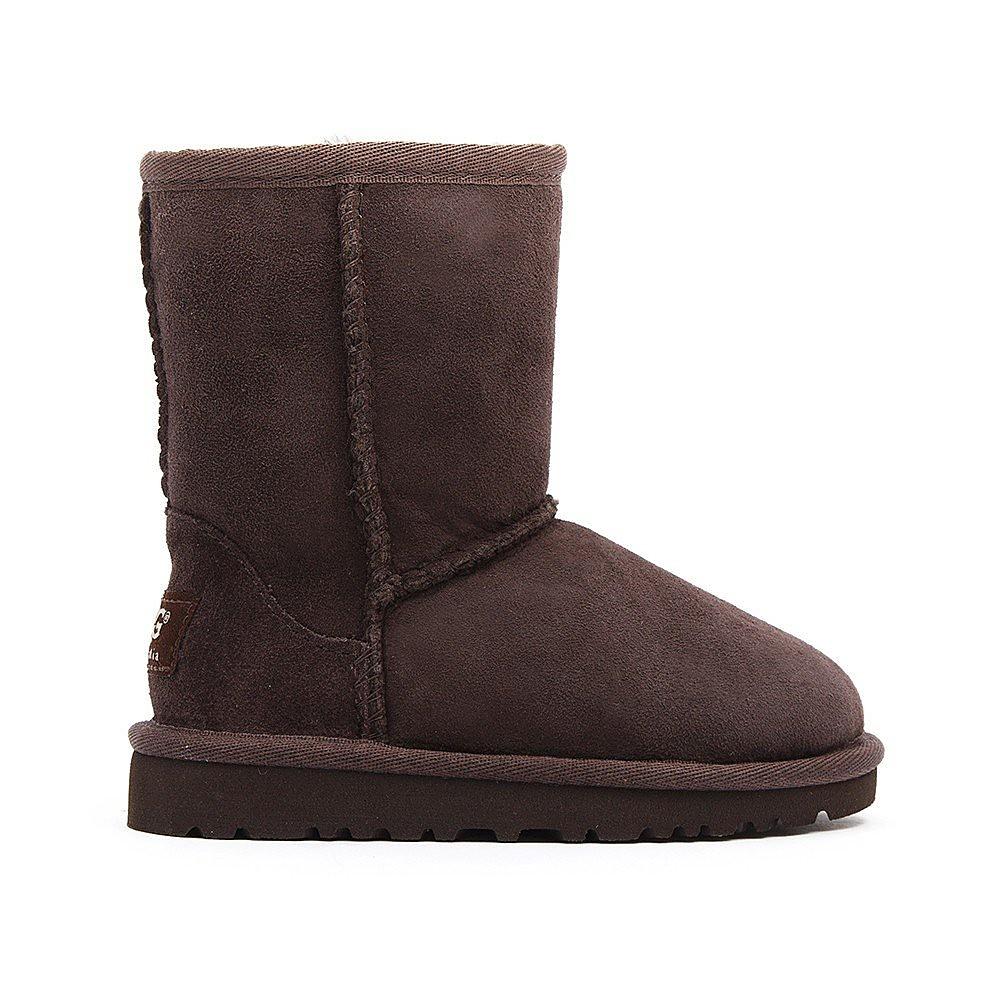 Ugg Infant Classic Short Sheepskin Boots - Chocolate