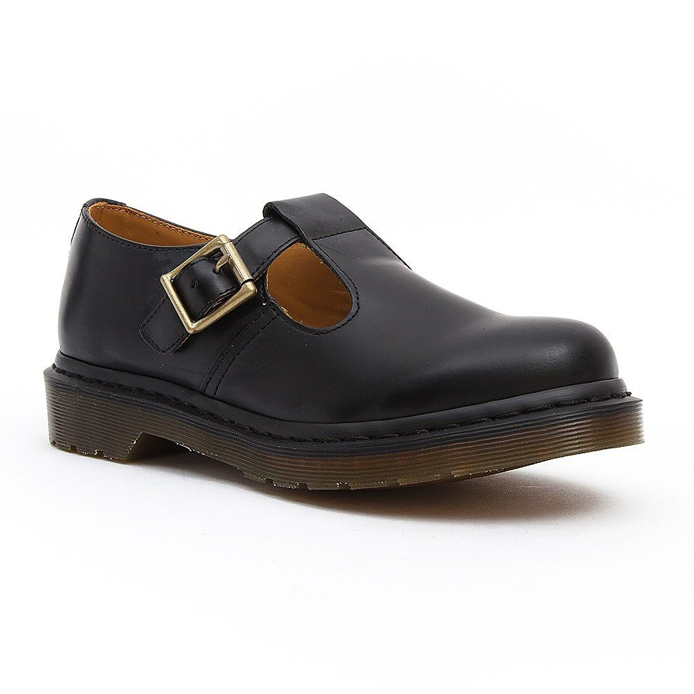 Dr Martens Womens Polley T Bar Shoes - Black