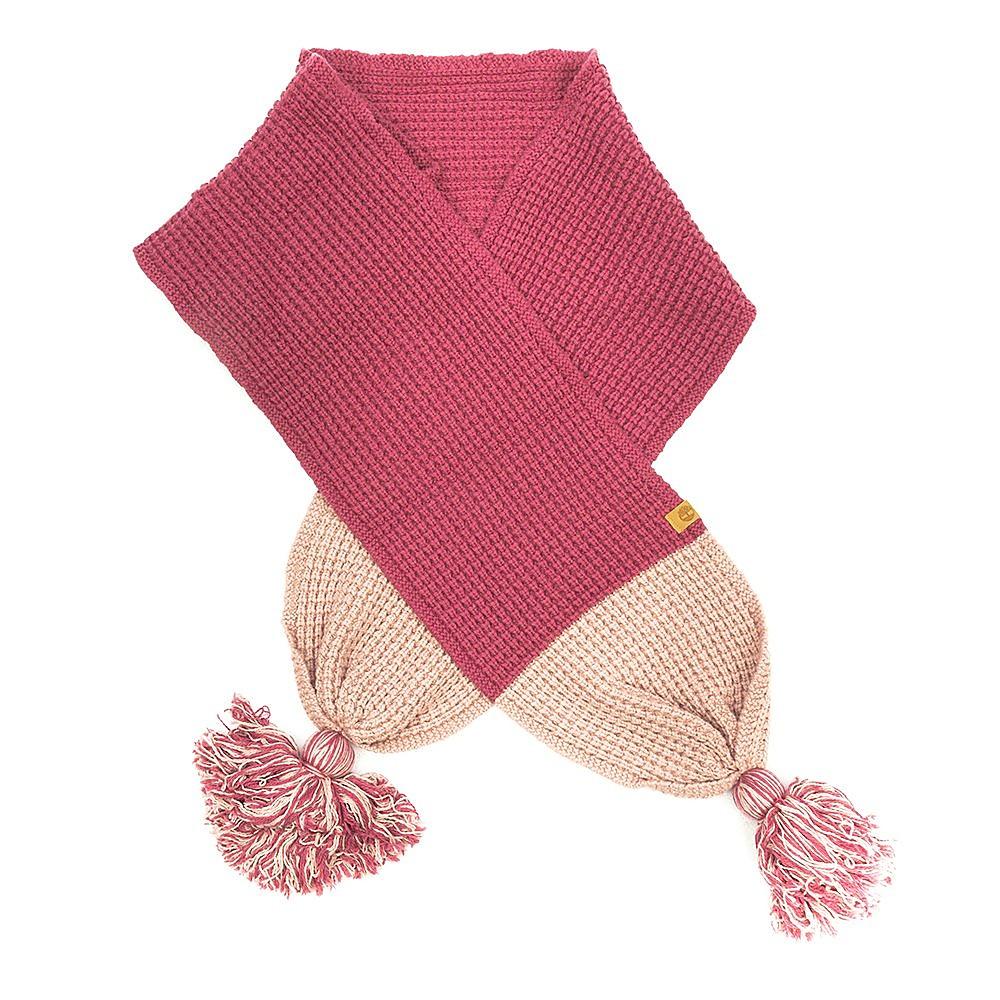 Timberland Womens Pom Pom Scarf - Rose Pink