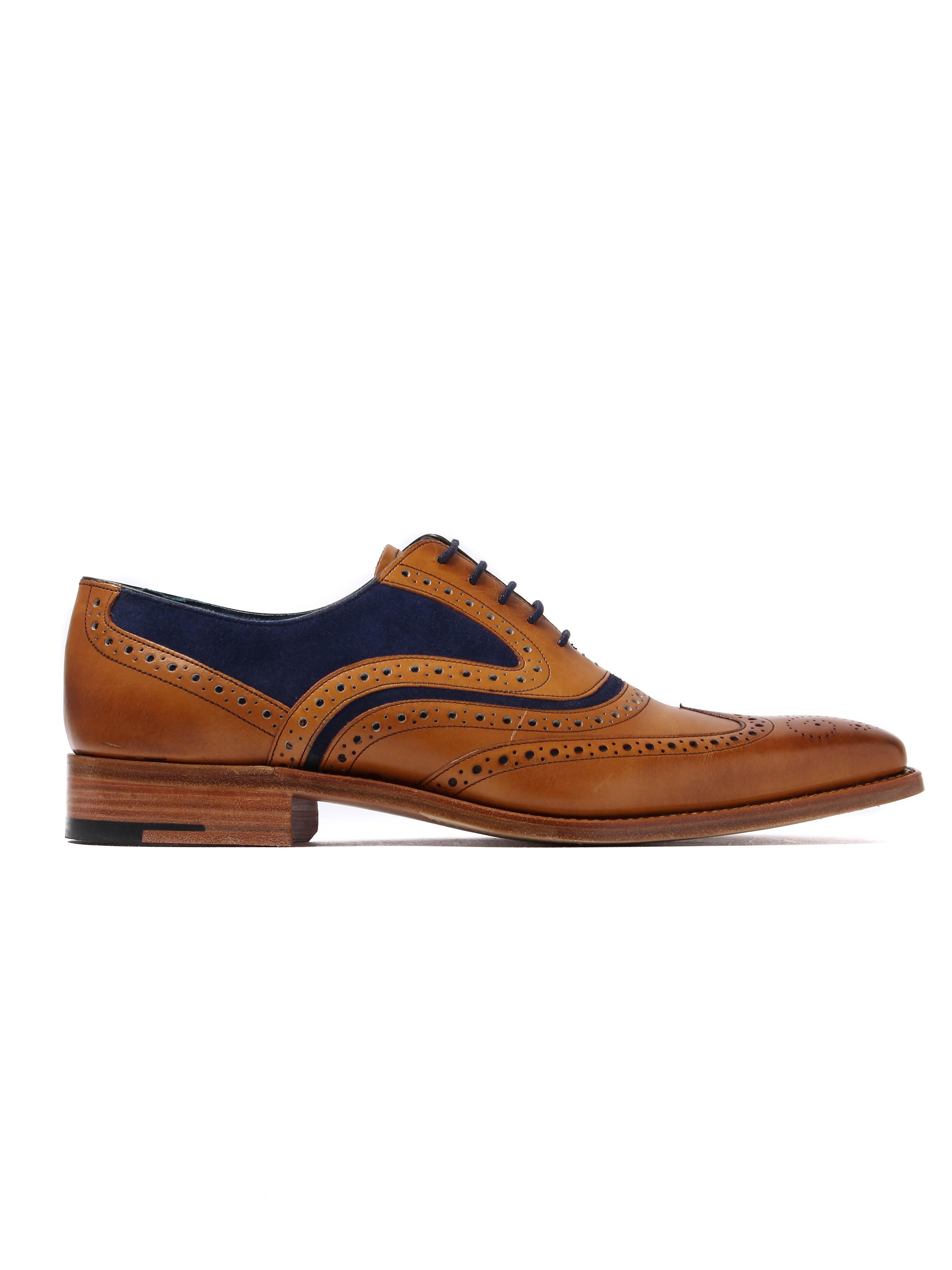 Barker Men's McClean Oxford Brogues - Cedar/Navy