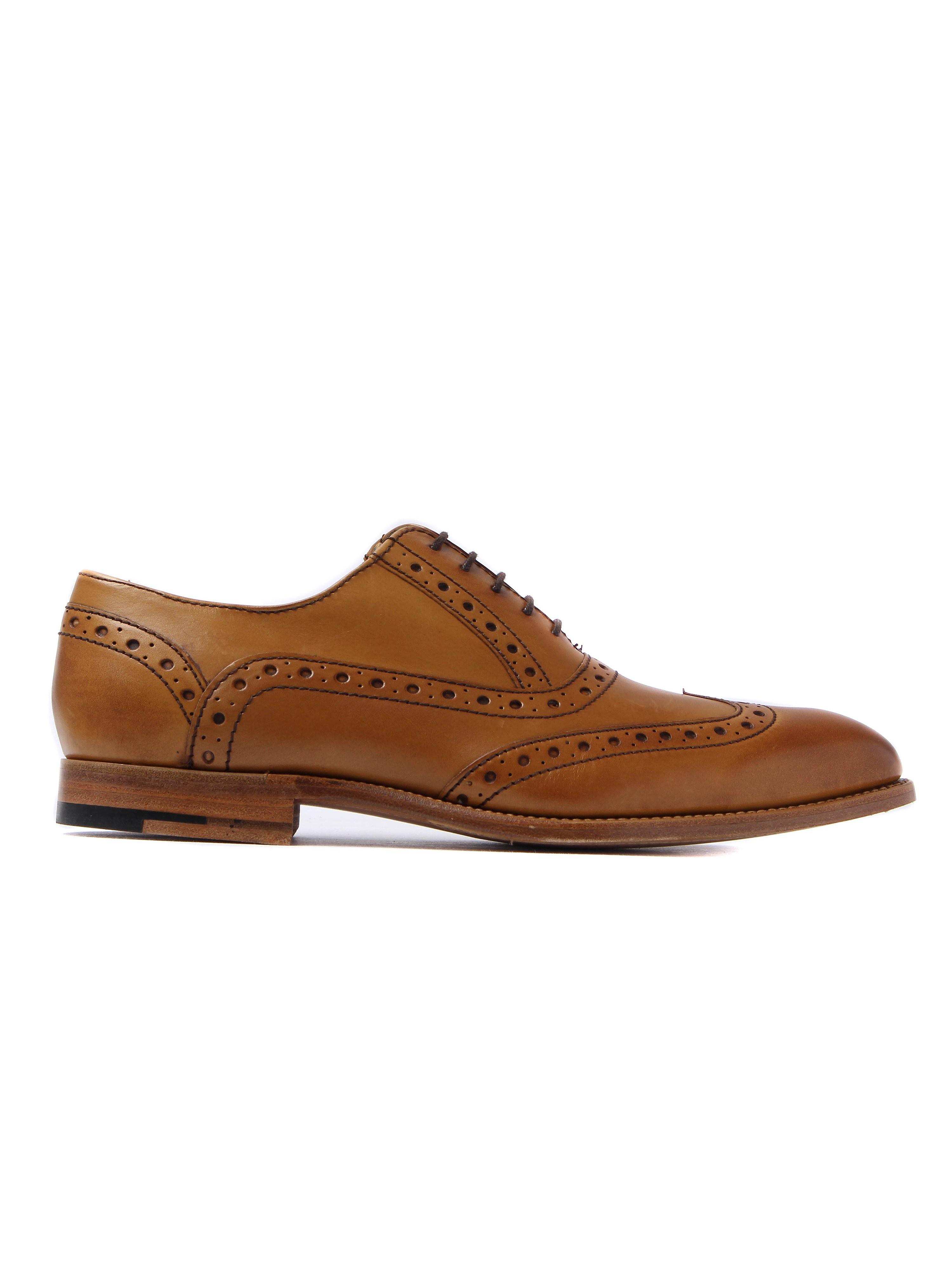 Barker Men's Grant Leather Oxford Brogues - Cedar