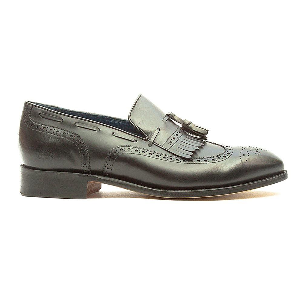Barker Men's Morgan Leather Tassel Loafers - Black