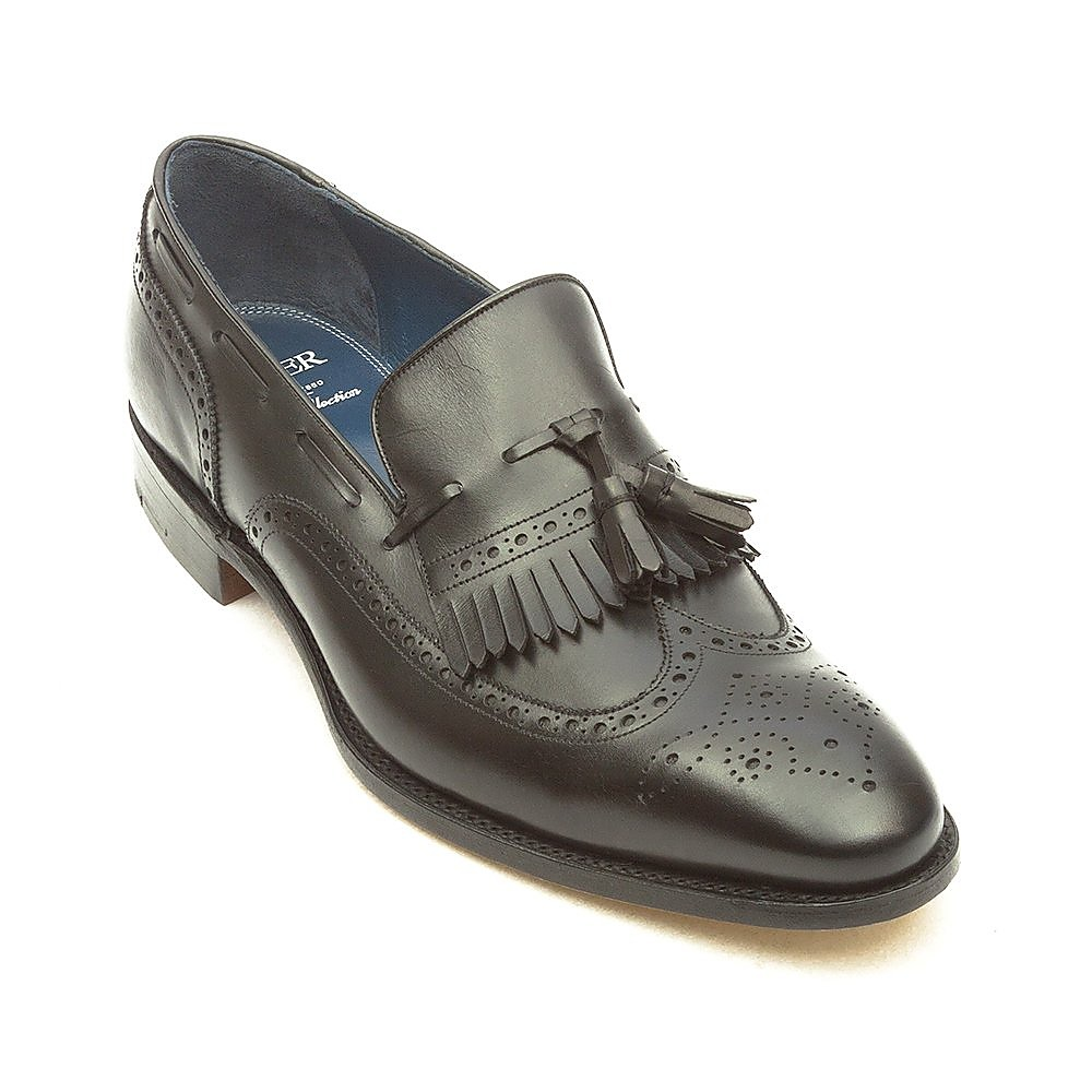 Barker Men's Morgan Leather Tassel Loafers - Black