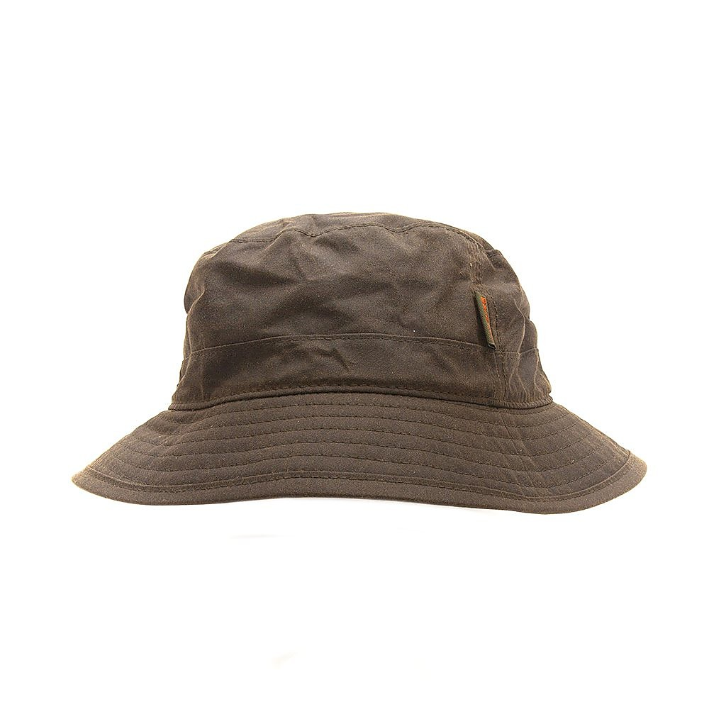 Barbour Mens Wax Hat - Olive