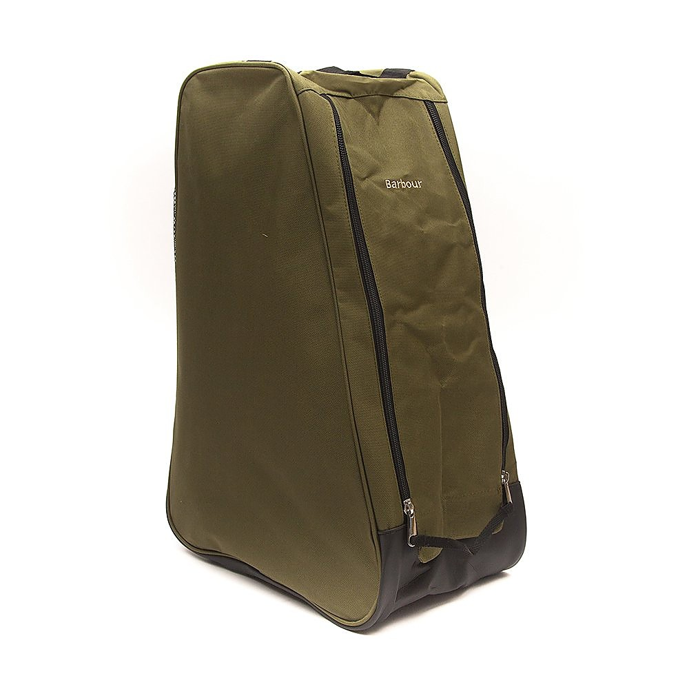 Barbour Tall Canvas Wellington Boot Bag - Olive