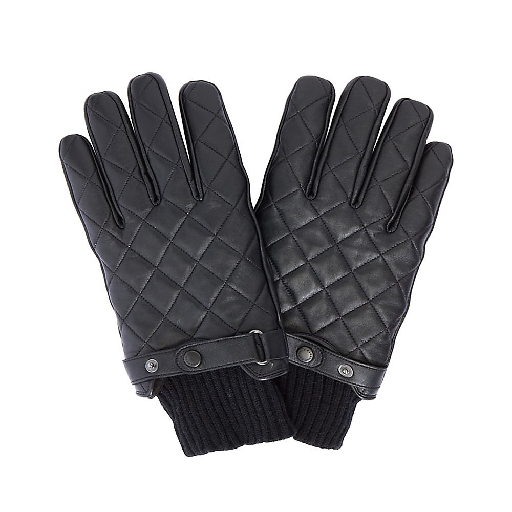 Barbour Quilted Gloves - Black