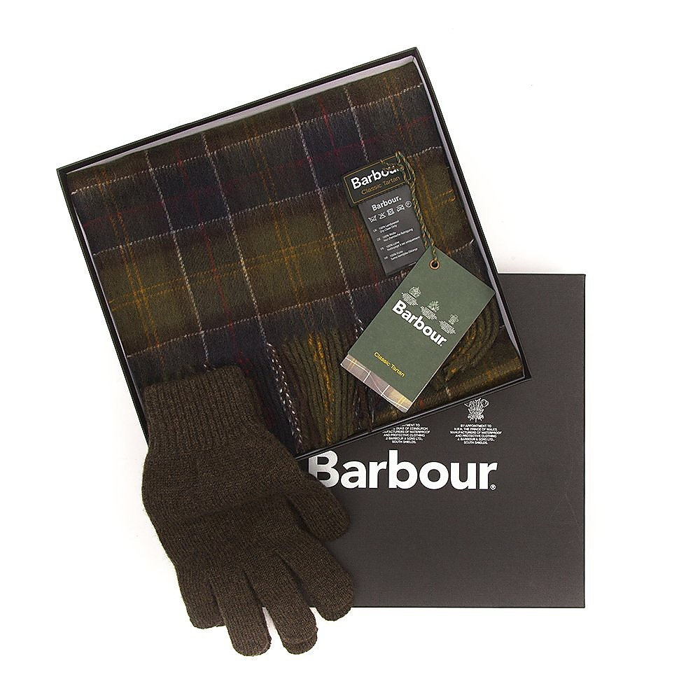 Barbour Scarf and Gloves Gift Box - Classic - One