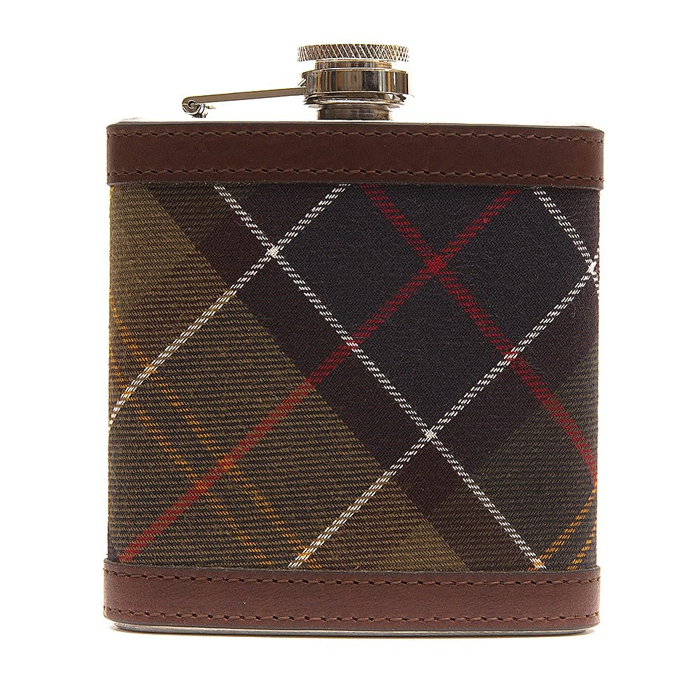 Barbour Hip Flask - Classic Dark