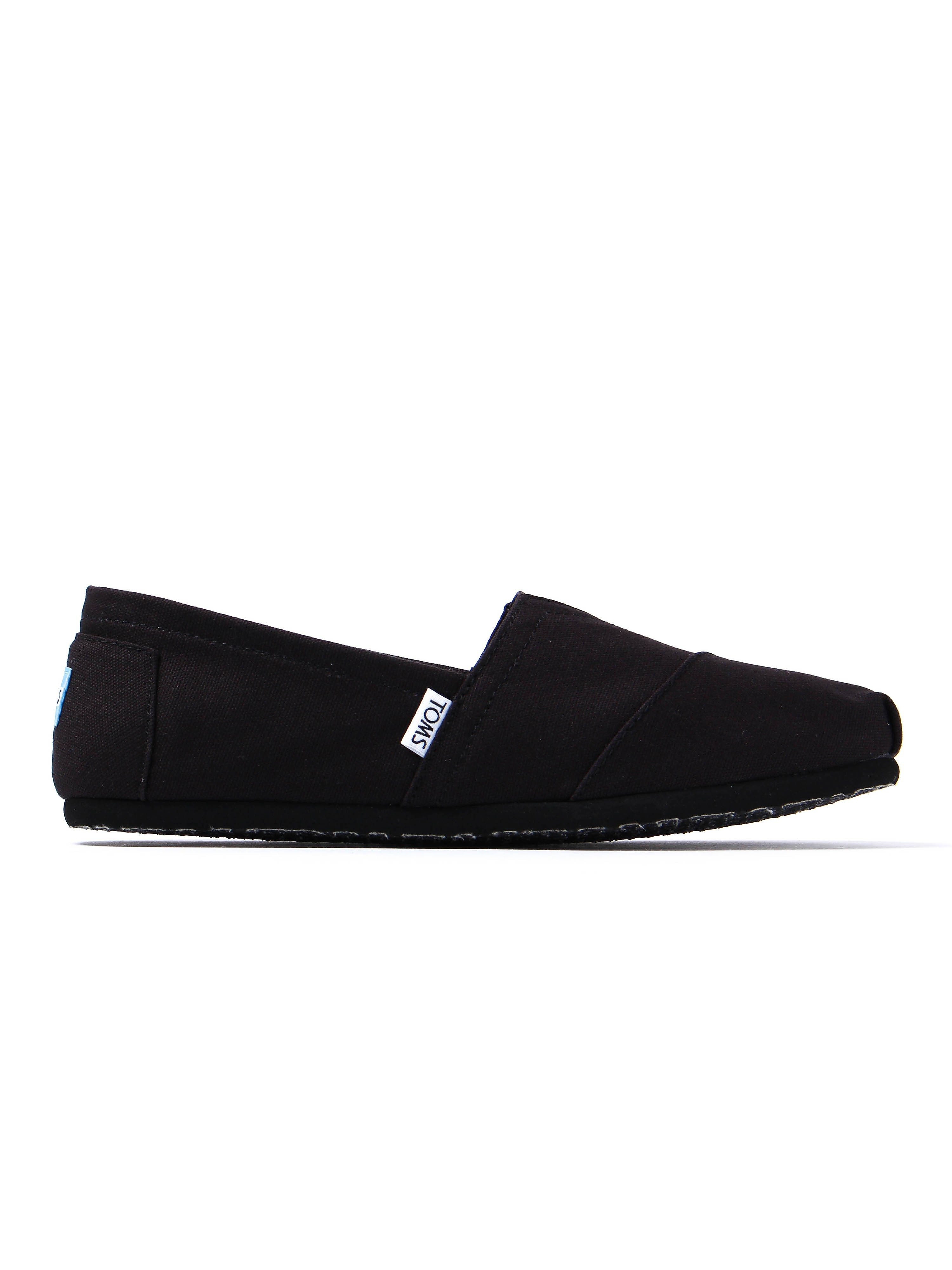 Toms Mens Classic Canvas Slip-On Shoes - All Black