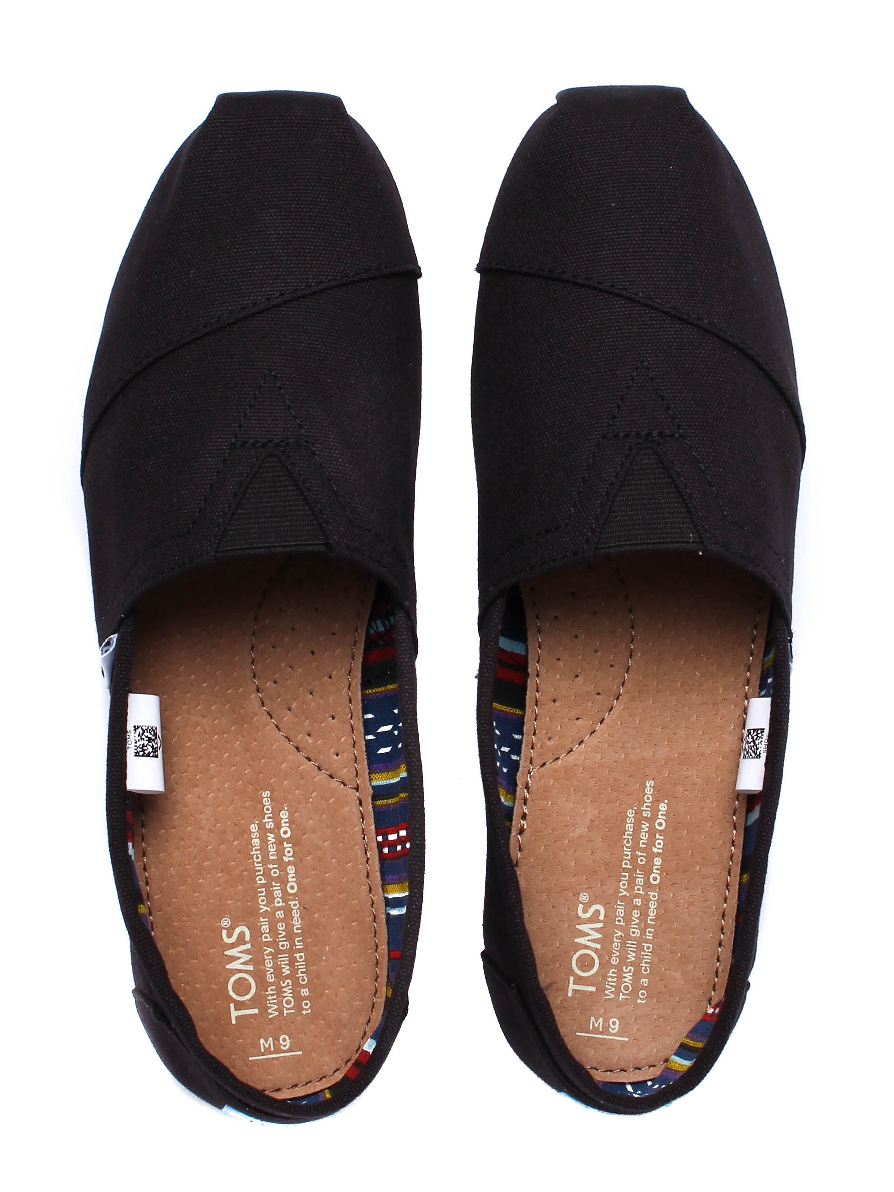 Toms Men's Classic Canvas Shoes - All Black