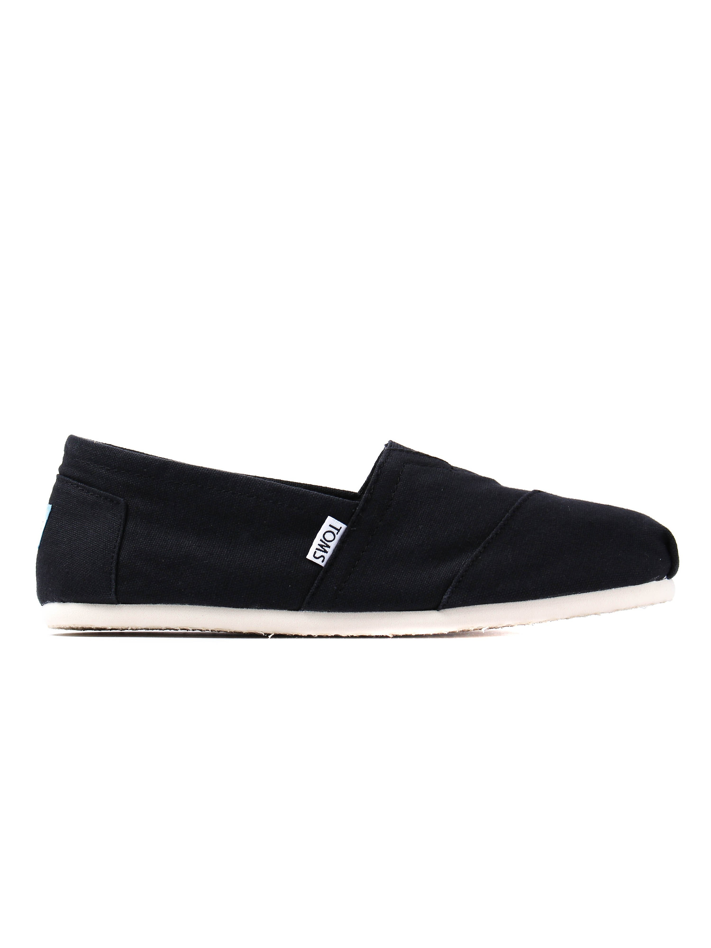 Toms Mens Classic Canvas Slip-On Shoes - Black