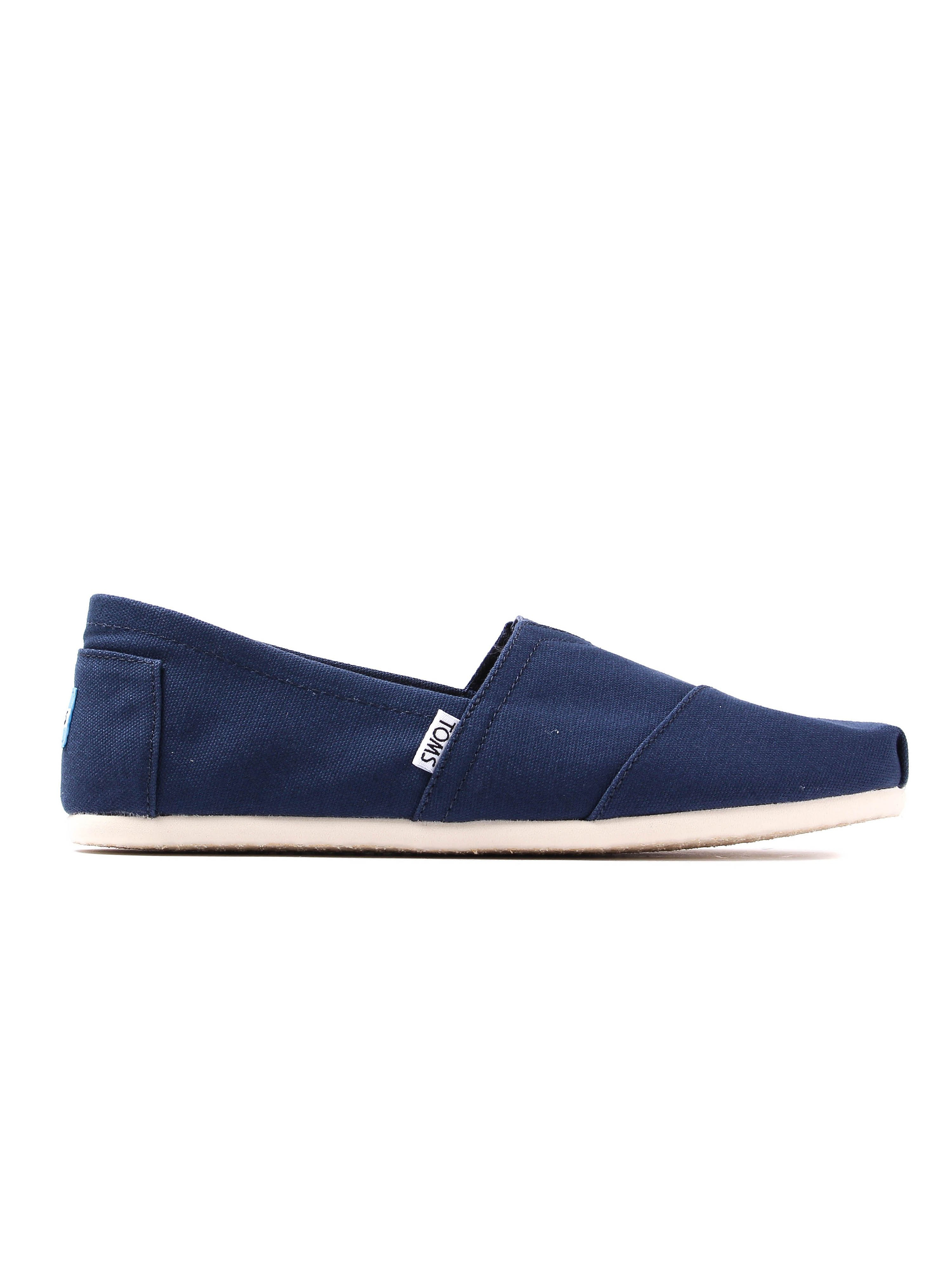 Toms Mens Classic Canvas Slip-On Shoes - Navy