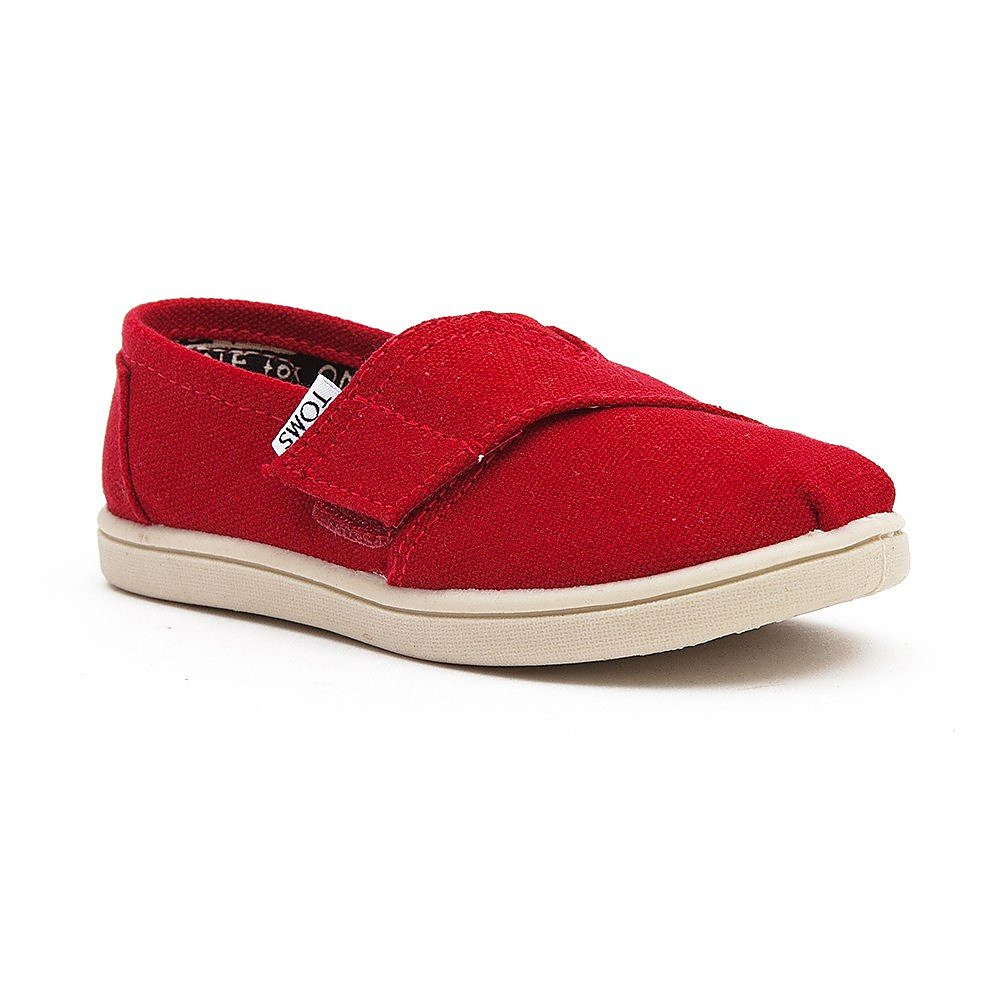 Toms Kids Classic - Red Canvas