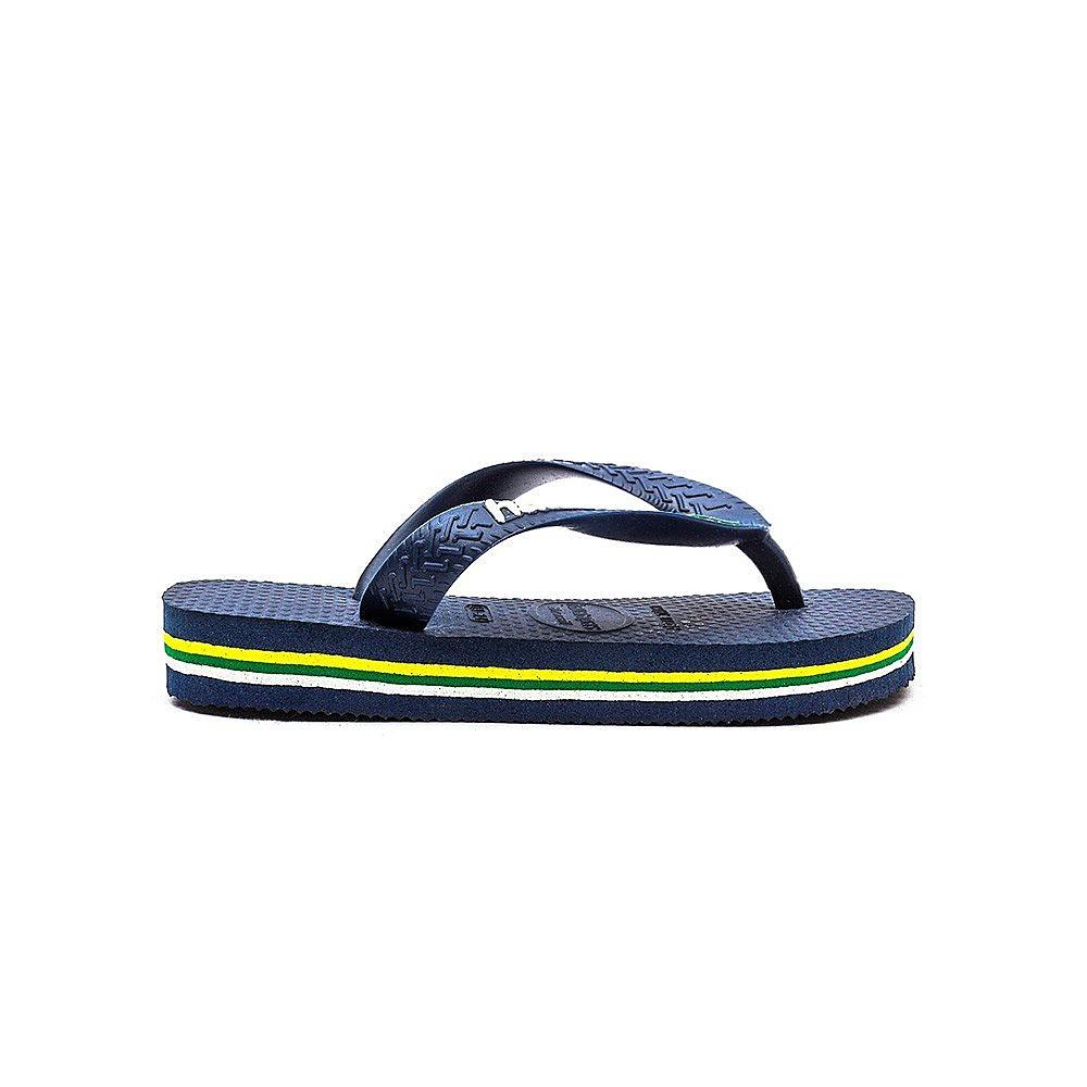 Havaianas Kids Brazil Flip Flops - Navy