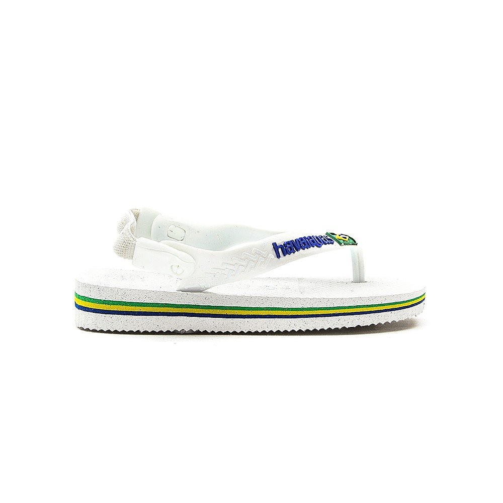 Havaianas Infant Brasil Logo Flip Flops - White