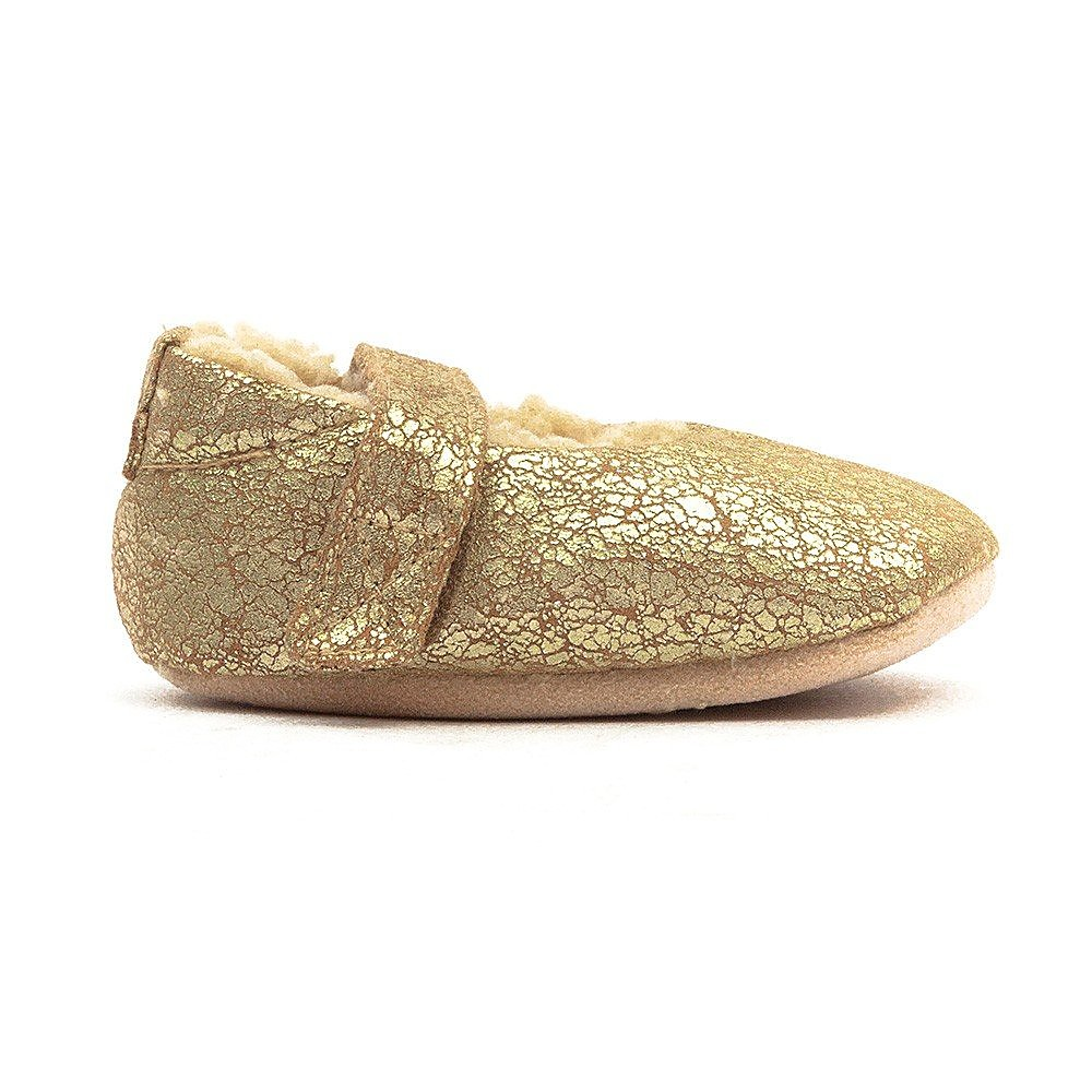 Ruby and Ed Baby Antique Ballerina Slipper - Gold