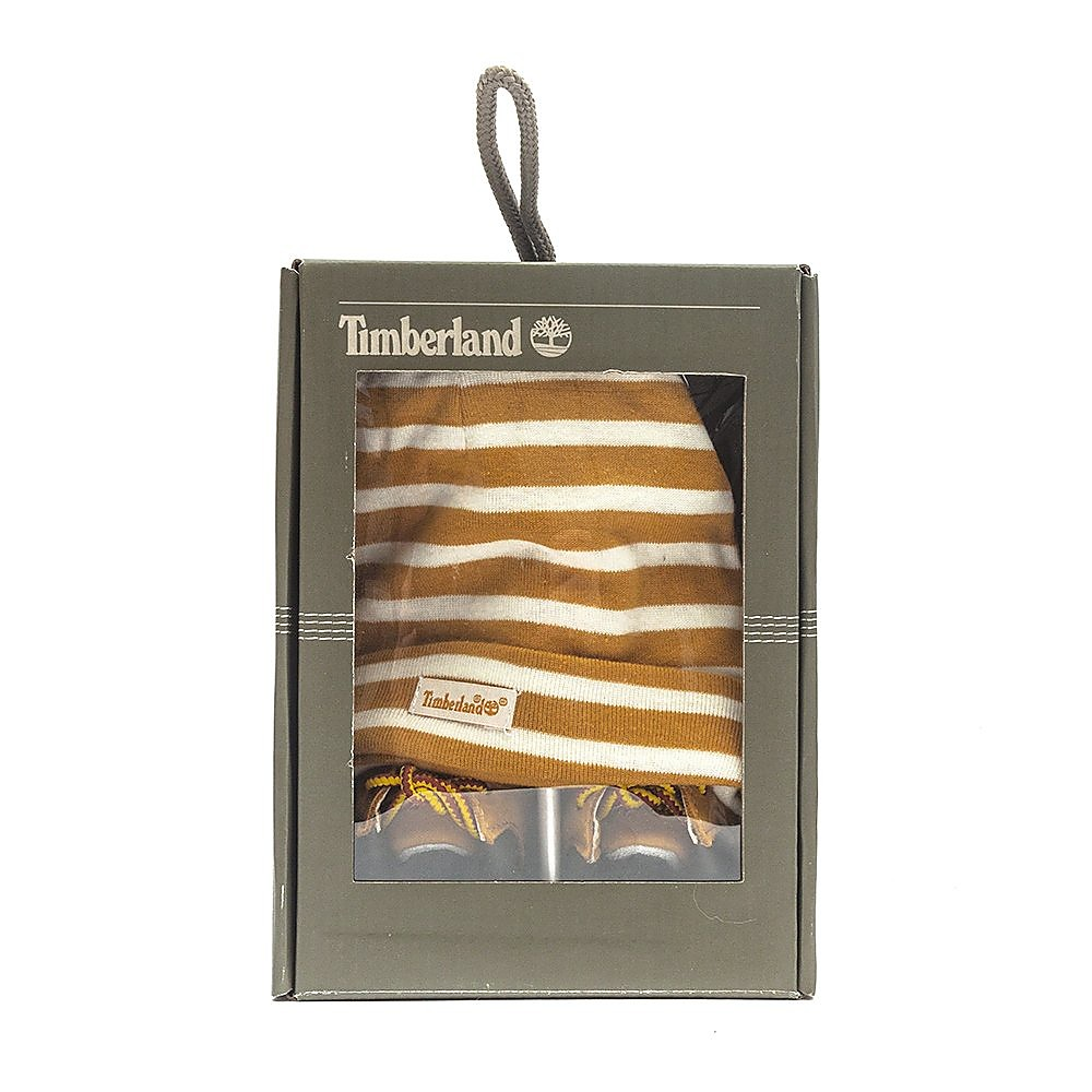 Timberland Baby Crib Bootie with Hat - Wheat Nubuck