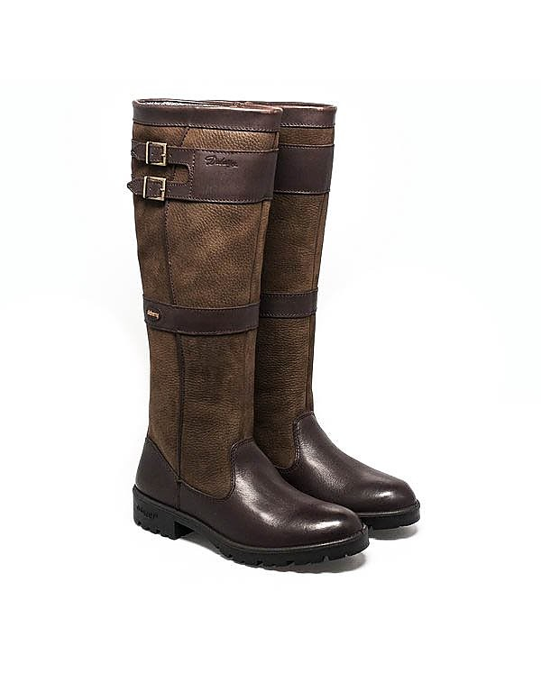 Dubarry Women's Longford Tall Leather Boots - Walnut