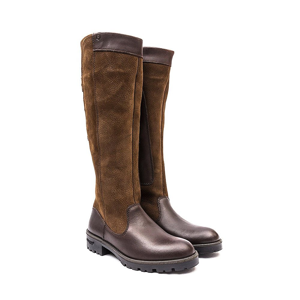 Dubarry Women's Clare Tall Leather Boots - Walnut