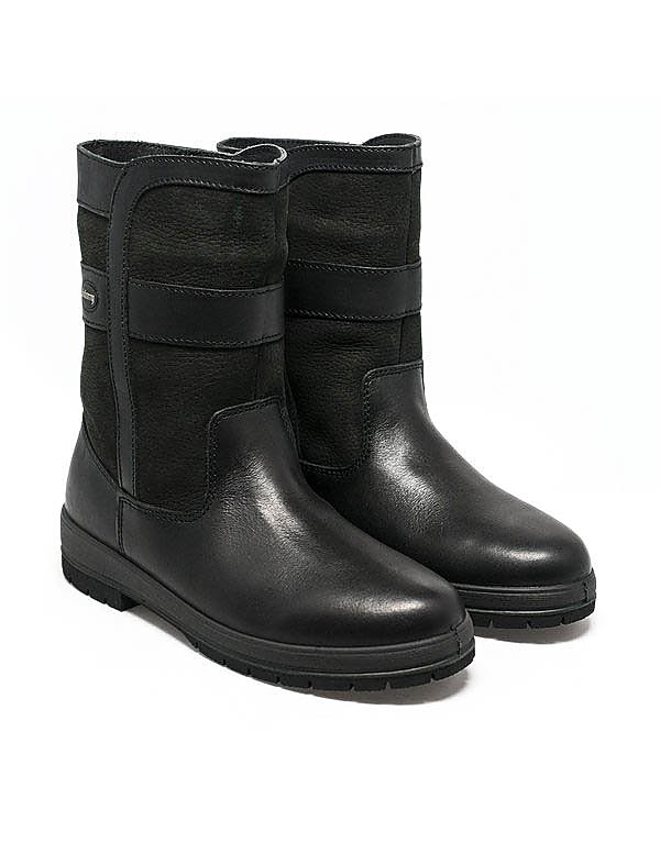 Dubarry Women's Roscommon Leather Mid Height Boots - Black