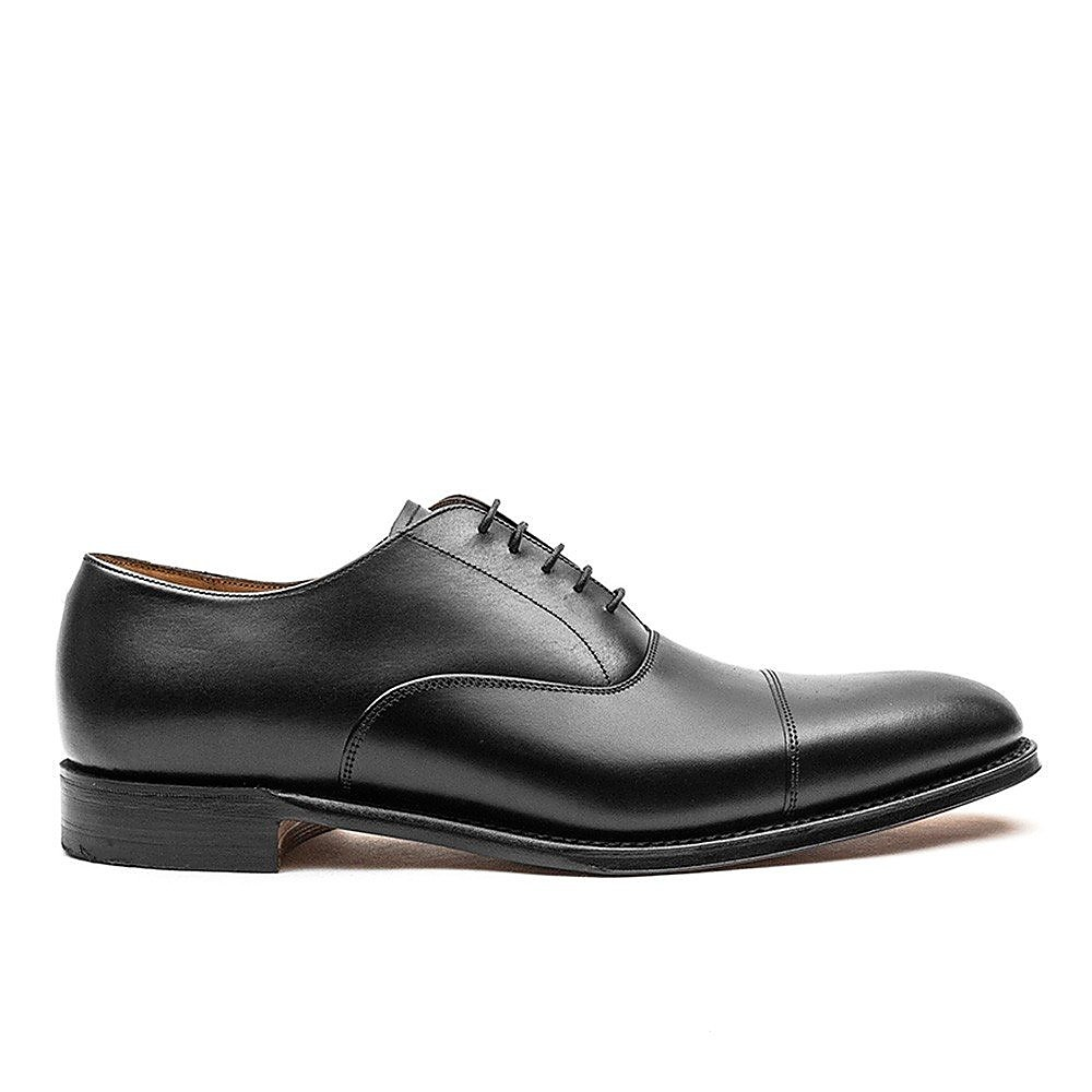 Cheaney Men's Lime Leather Oxford Derby Shoe - Black
