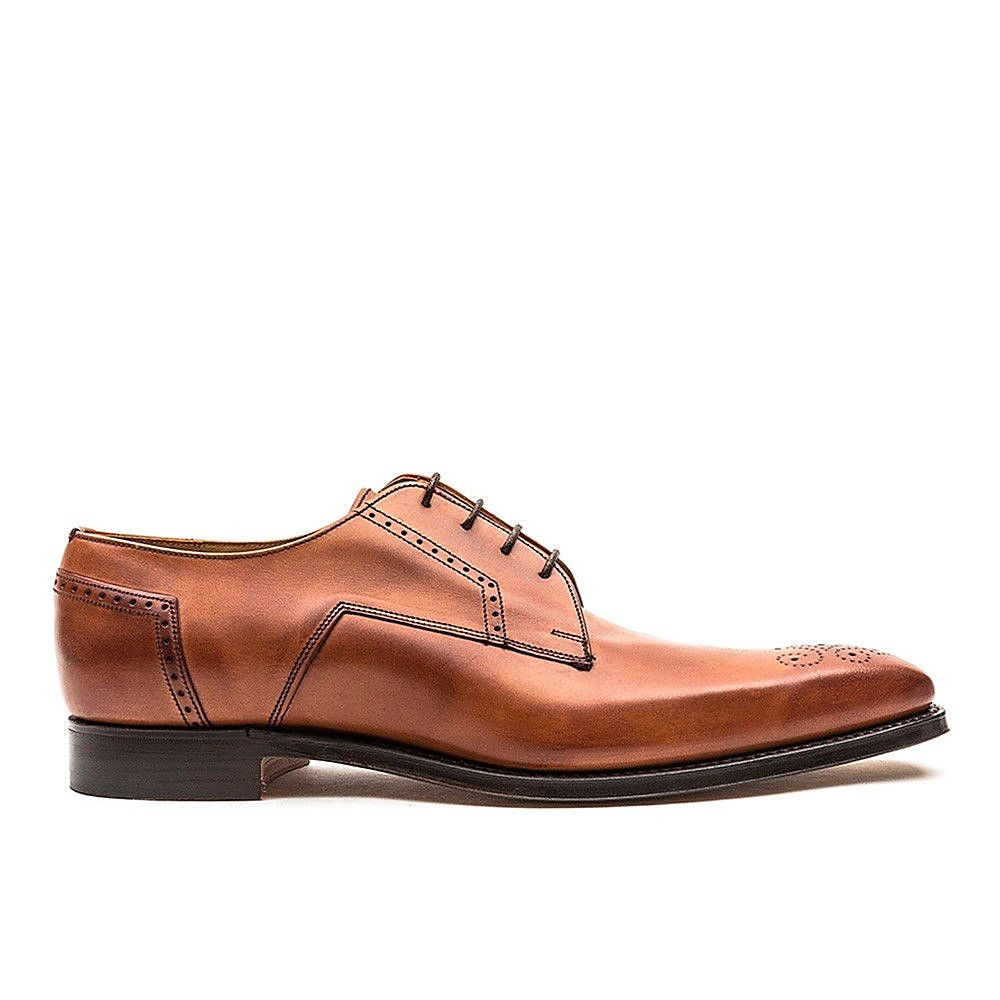 Cheaney Men's Ewan Leather Derby Brogues - Brown