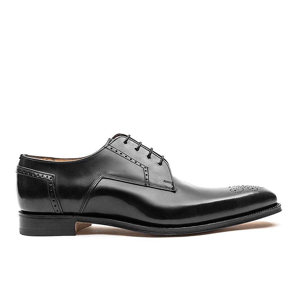 Cheaney Men's Ewan Leather Derby Brogues - Black