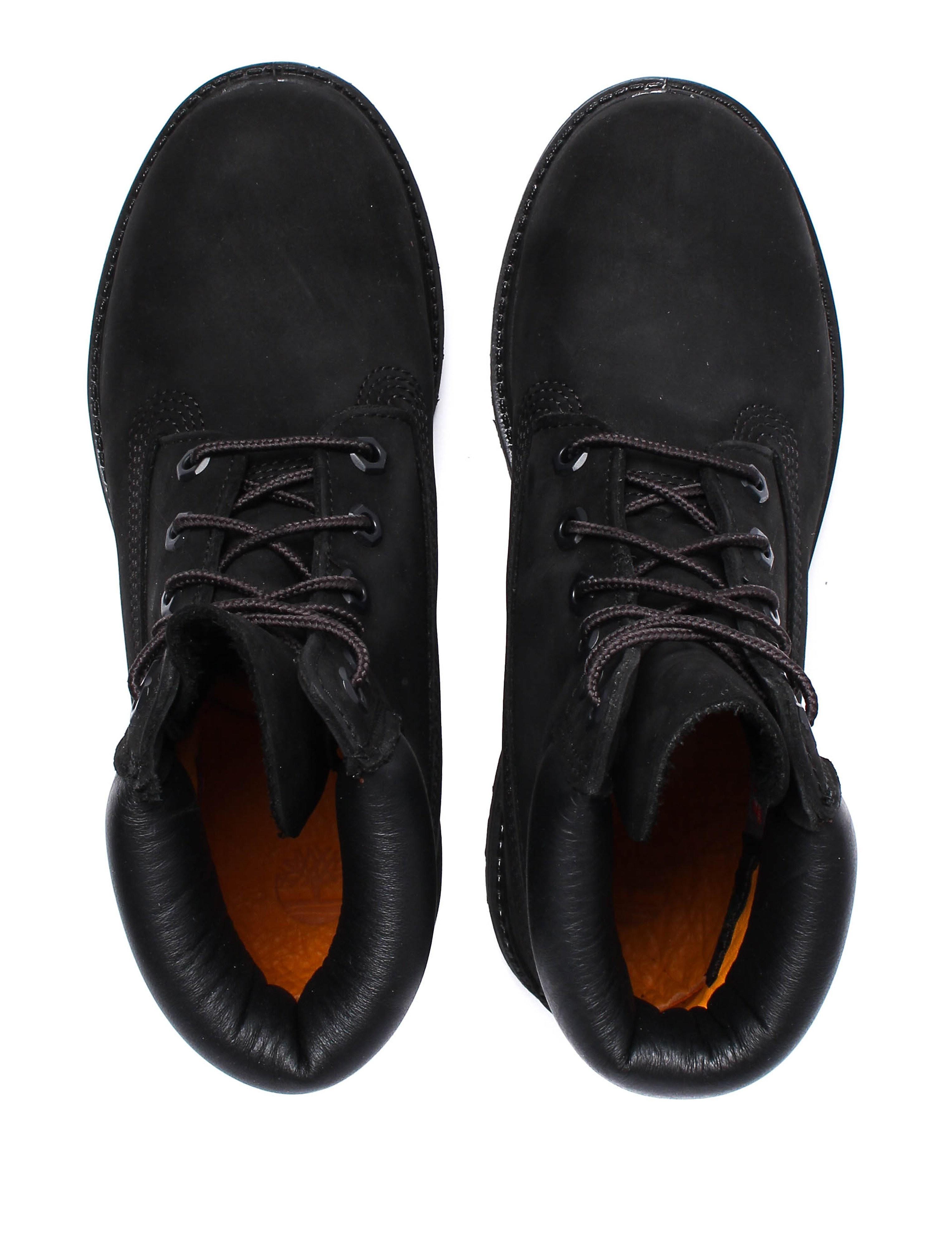 Timberland Womens 6 Inch Premium - Black Nubuck