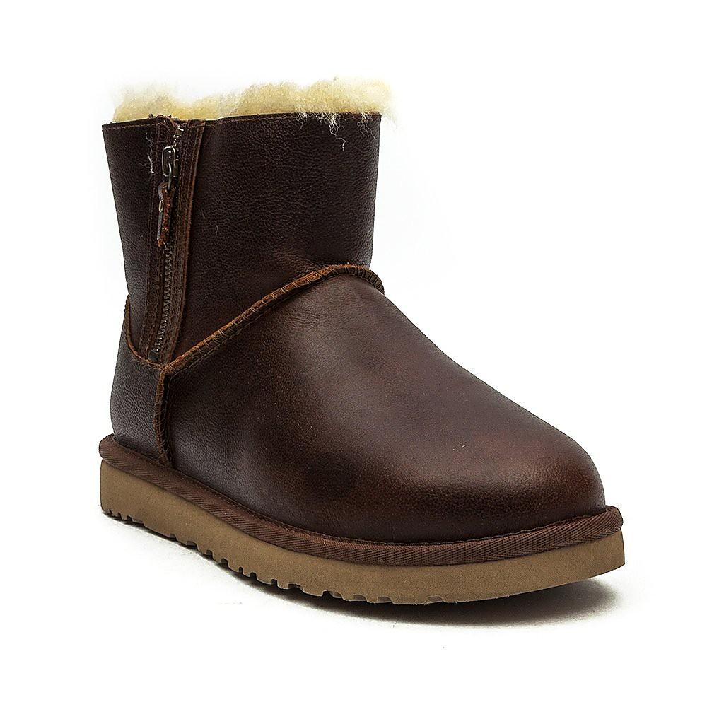 Ugg Women's Australia Classic Mini Double Zip Boots - Chesnut