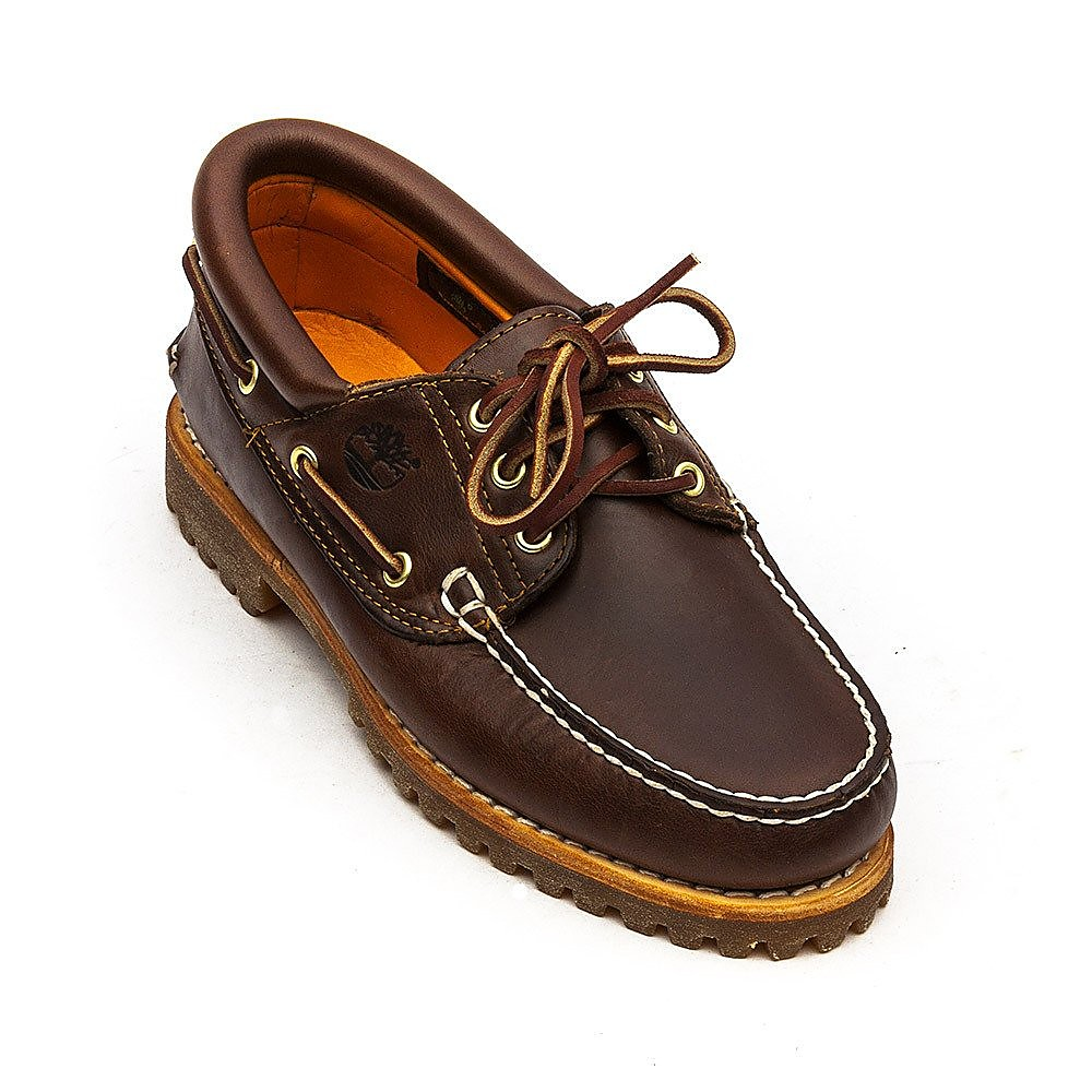 Timberland Men's Icon Classic 3 Eye Leather Boat Shoes - Brown
