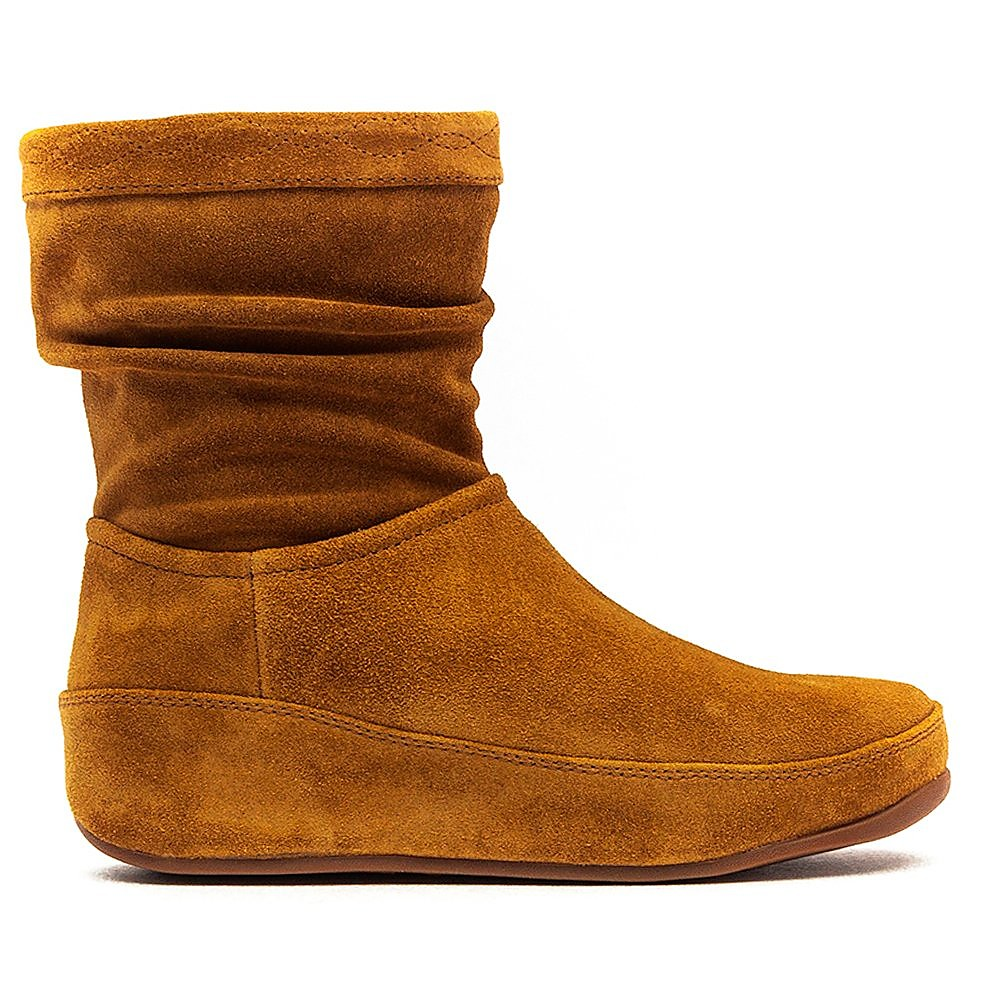 FitFlop Zip Up Crush Boot Suede