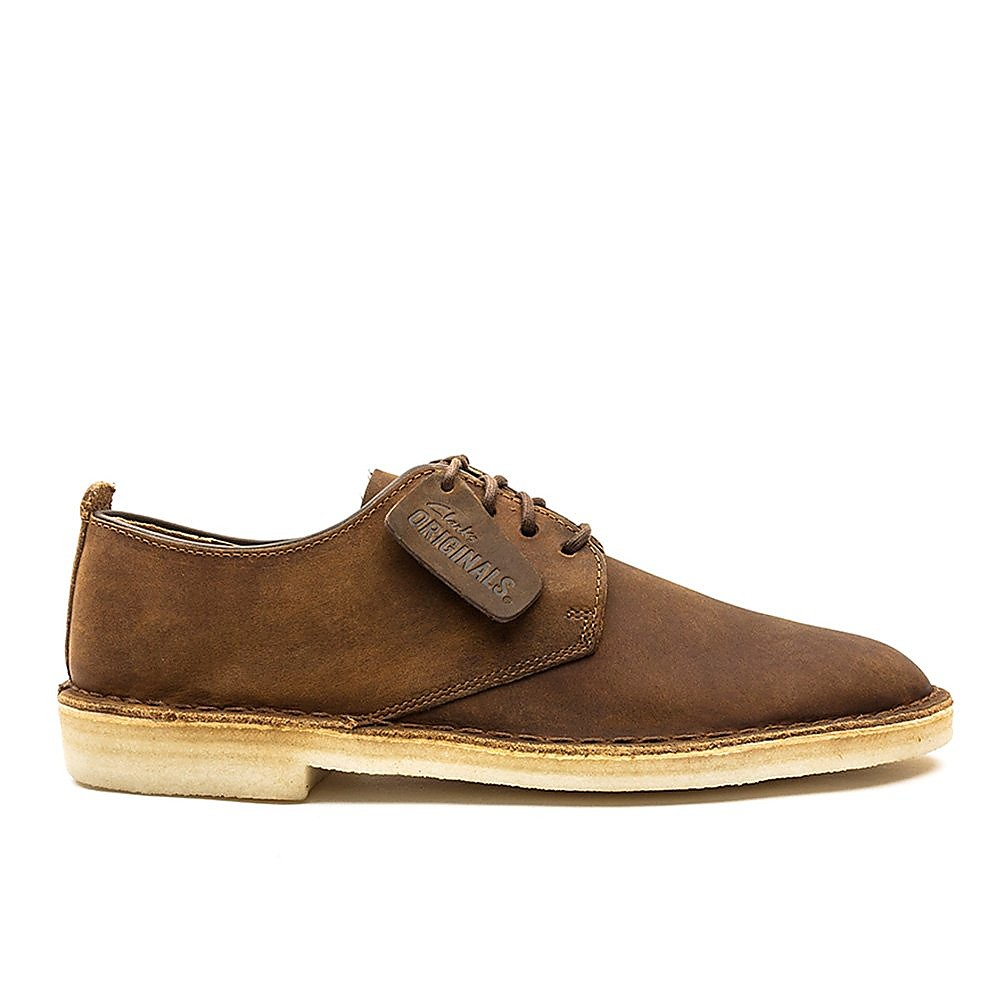 Clarks Men's Desert London Beeswax Leather Shoes - Tan