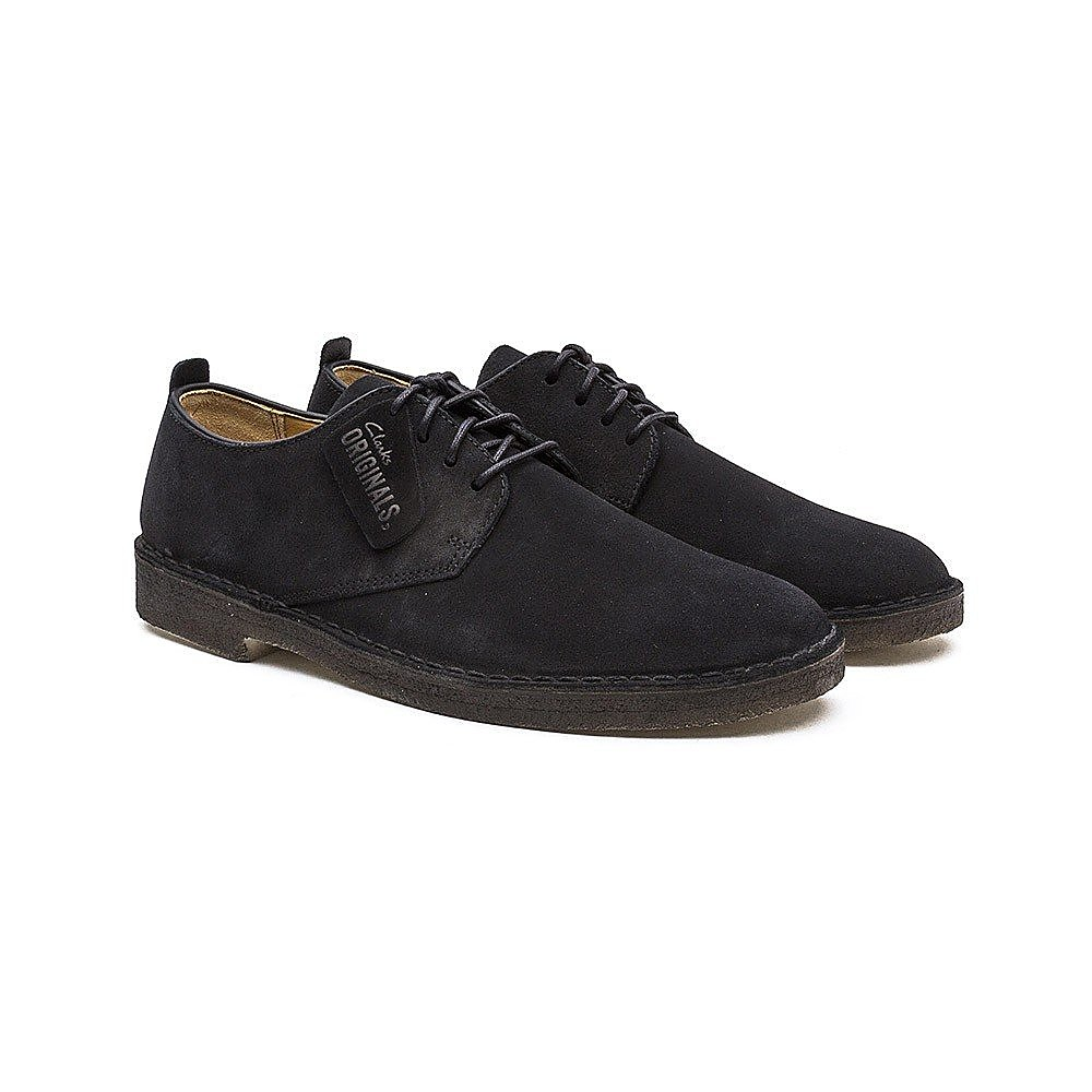 Clarks Men's Suede Desert London Boots - Black