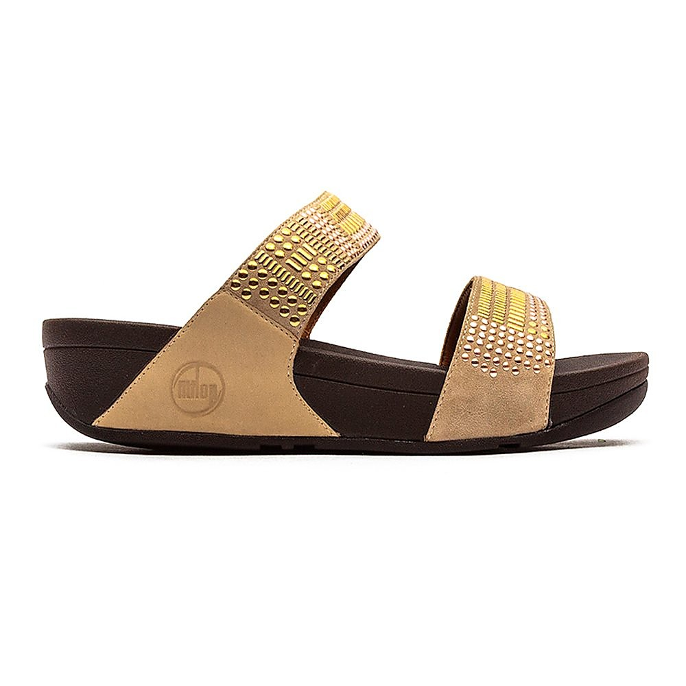 FitFlop Womens Aztek Chada™ Slide Sandals - Rose Gold