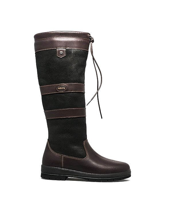 Dubarry Women's Galway Tall Leather Boots - Black & Brown