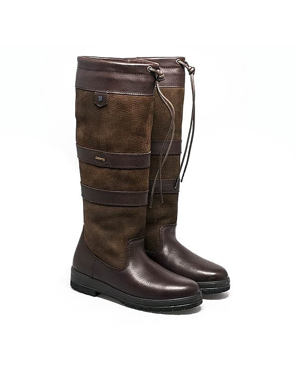 Dubarry Women's Galway Tall Leather Boots - Walnut