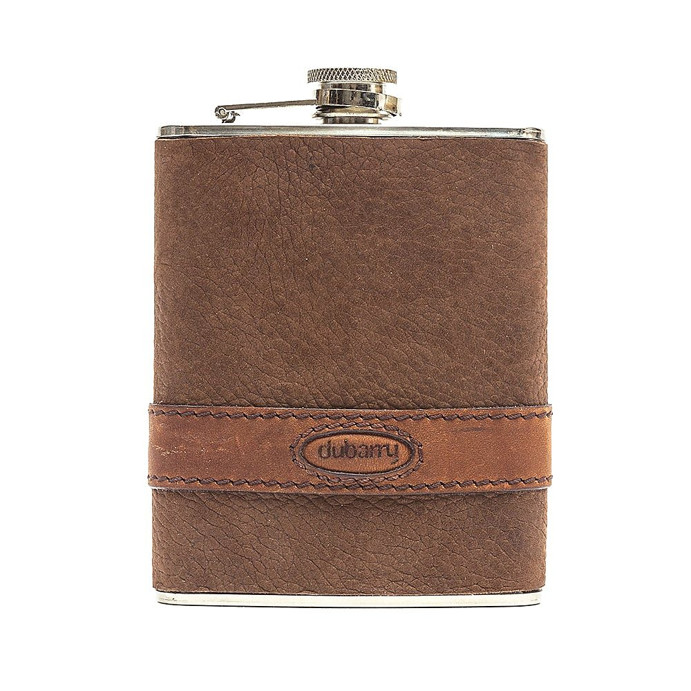 Dubarry Unisex Rugby Hipflask - Walnut Leather