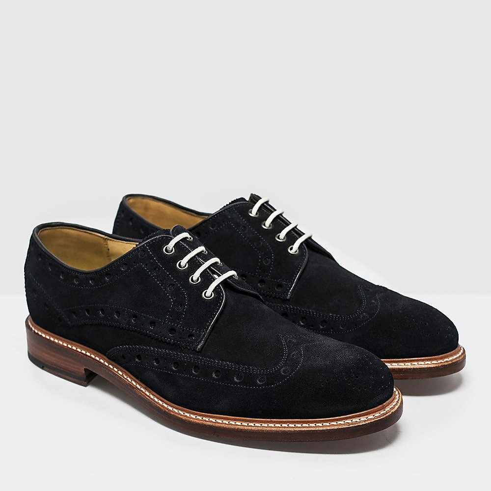 Oliver Sweeney Mens Hasketon Derby Brogues - Navy