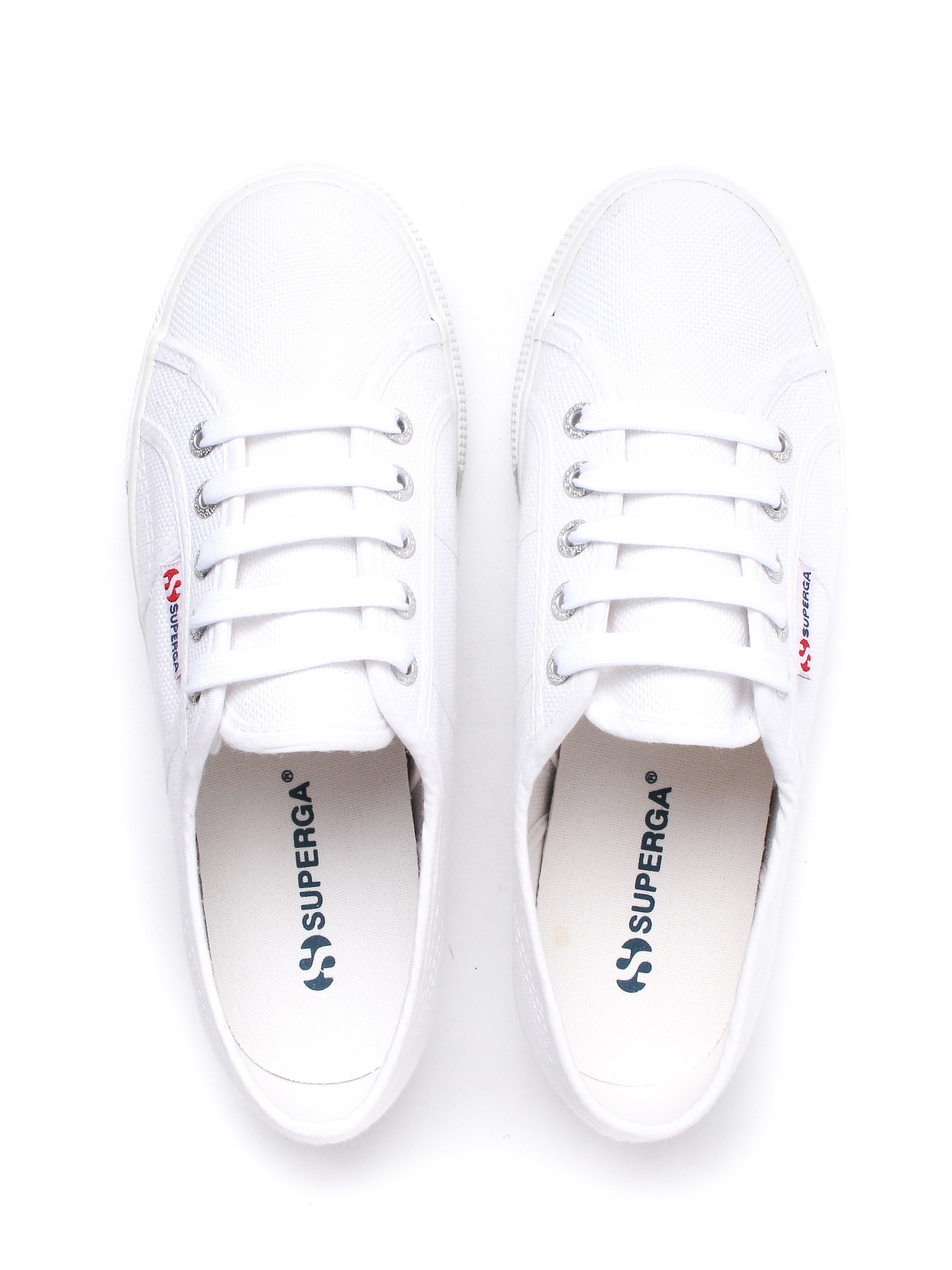 Superga Women's 2790 Linea Up & Down Flatform Canvas Trainers - White