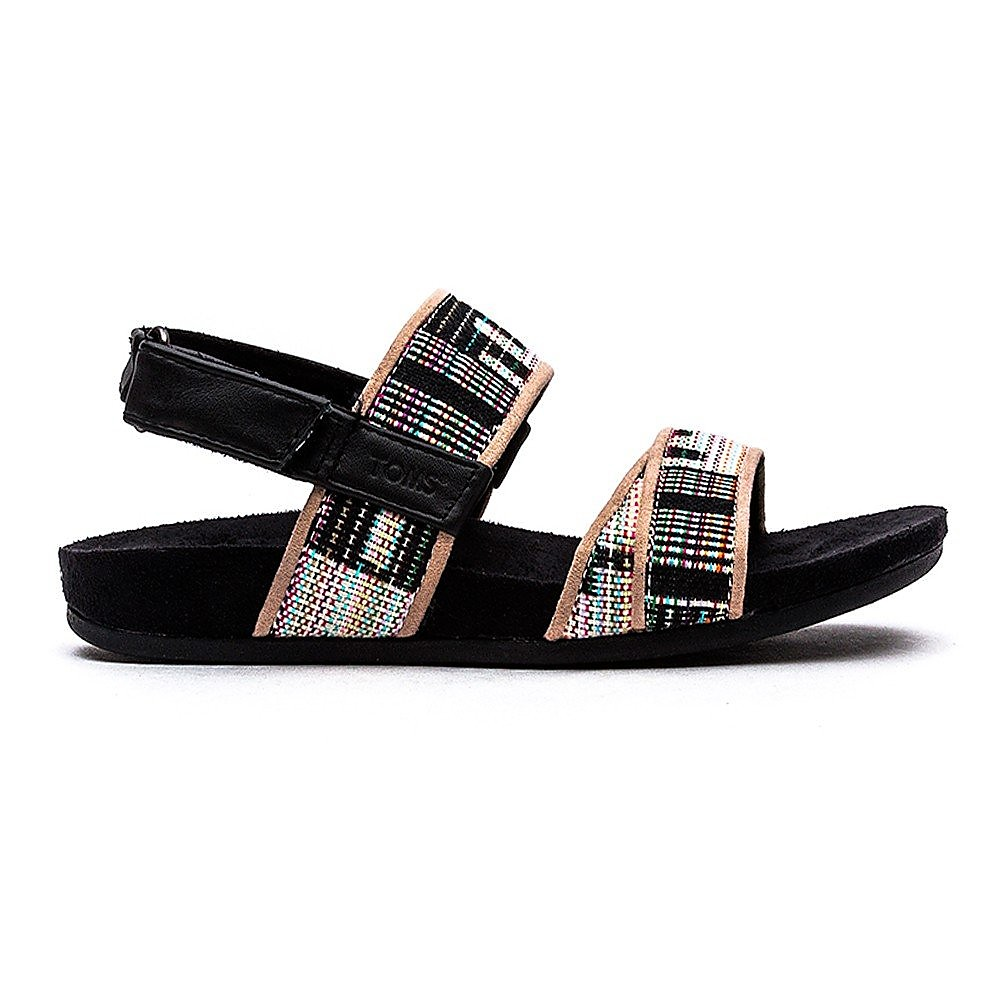 Toms Tiera Sandal Womens Black Tribal