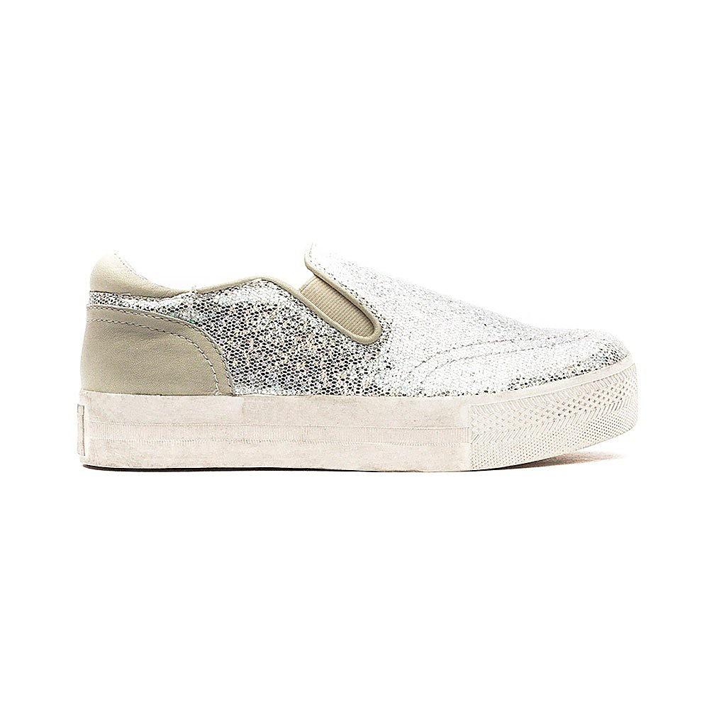 Ash Jumbo Kids Trainers - Silver Dazzling Glitter