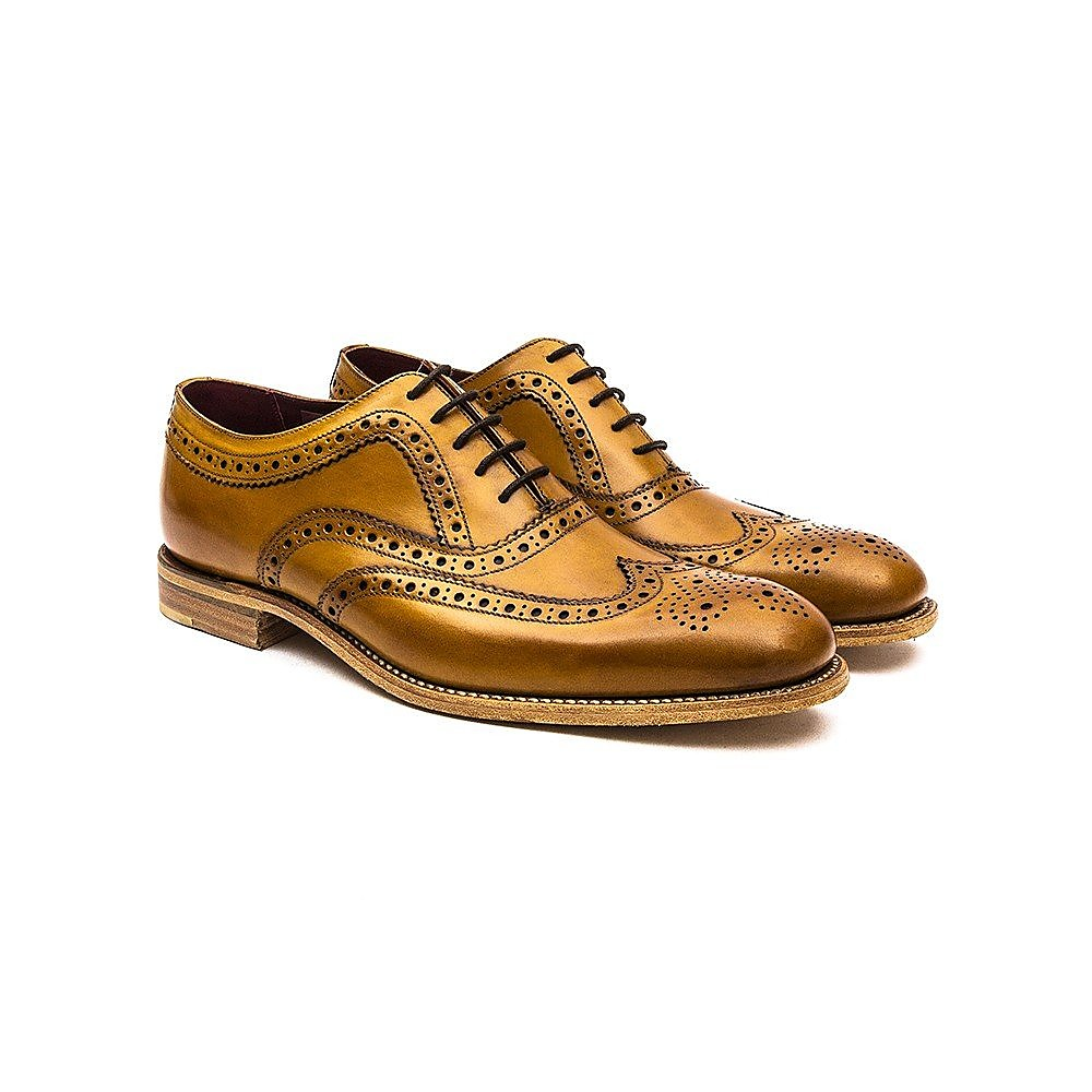Loake Men's Fearnley Leather Oxford Brogues - Tan